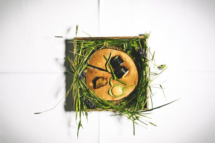 A dish from Hisa Franko a restaurant in Kobarid, Slovenia