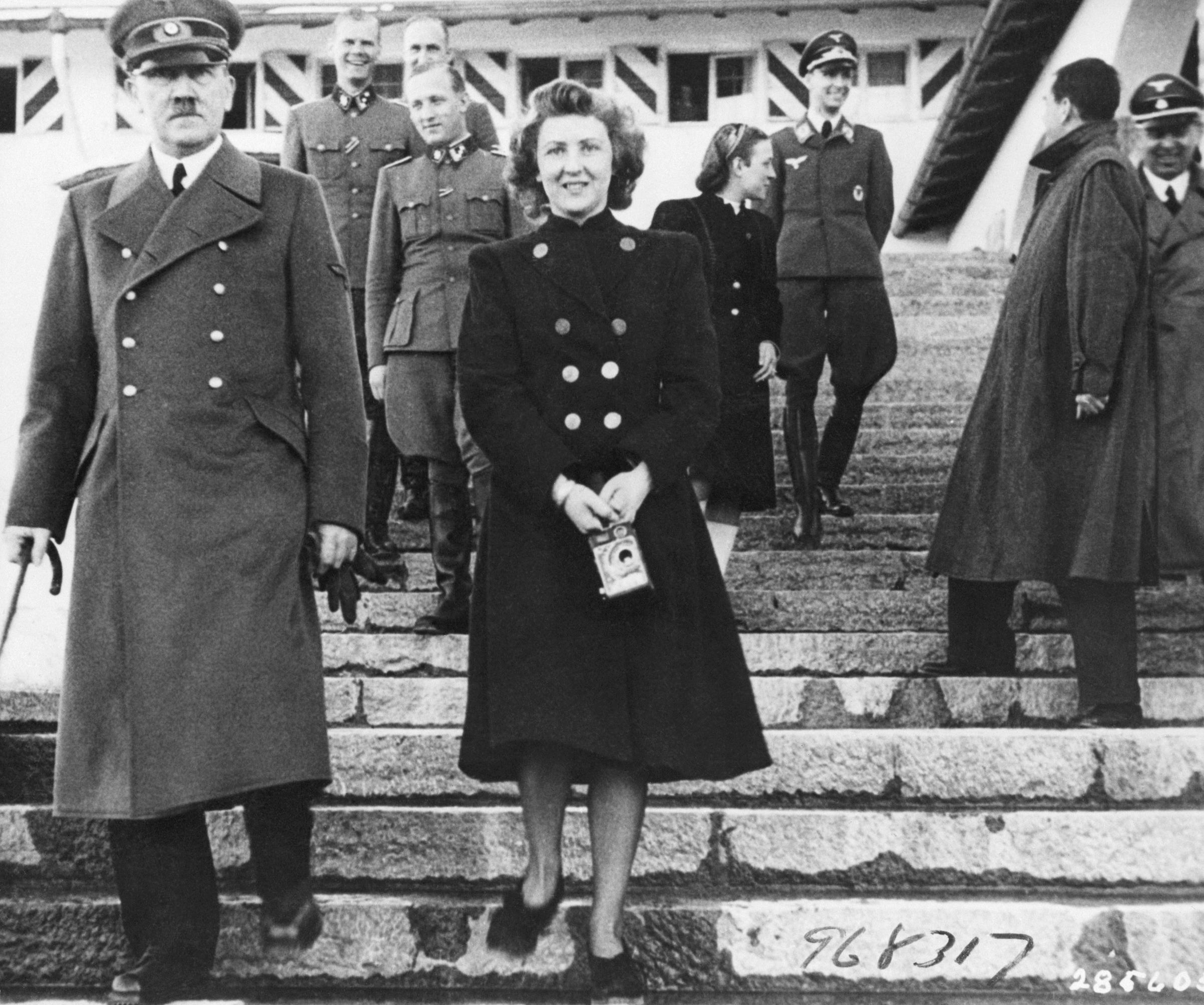 Adolf Hitler with Eva Braun. Undated Photo.