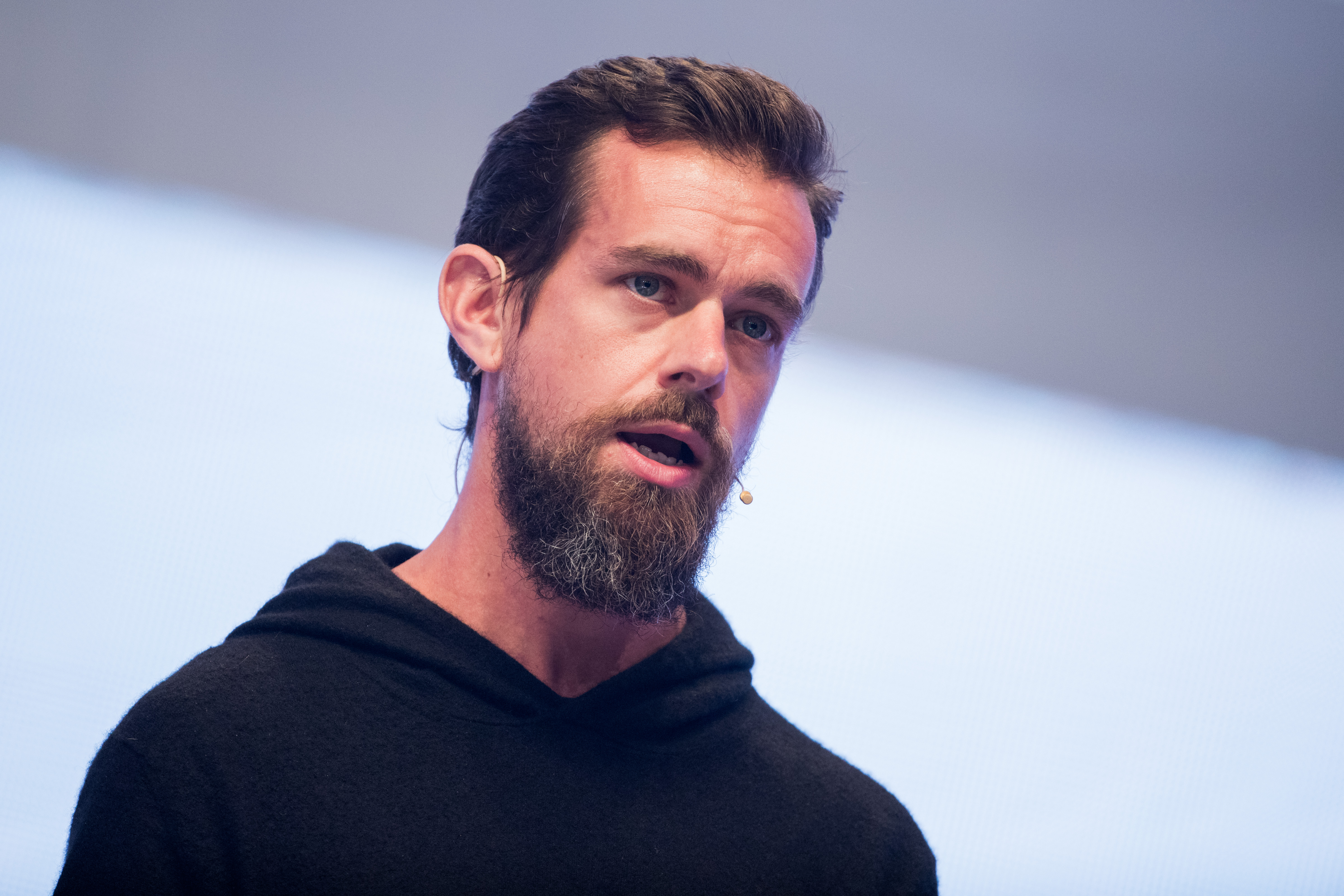Jack Dorsey, CEO of Twitter is pictured at the digital fair dmexco in Cologne, Germany, on Sept. 13, 2017.