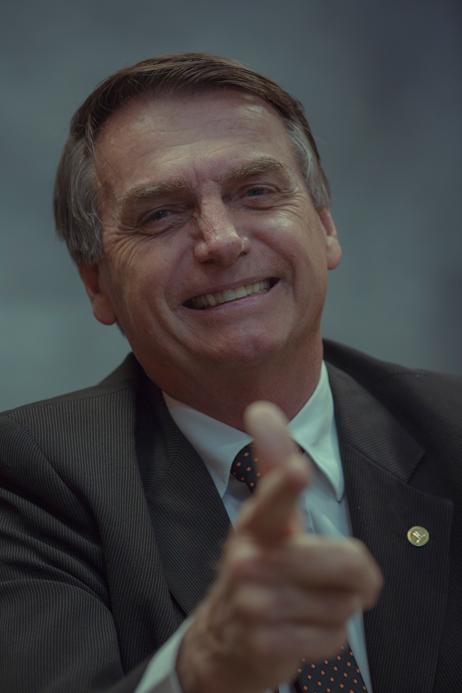 Bolsonaro, photographed in his office in June, is riding a wave of disillusionment asvoters turn against democracy