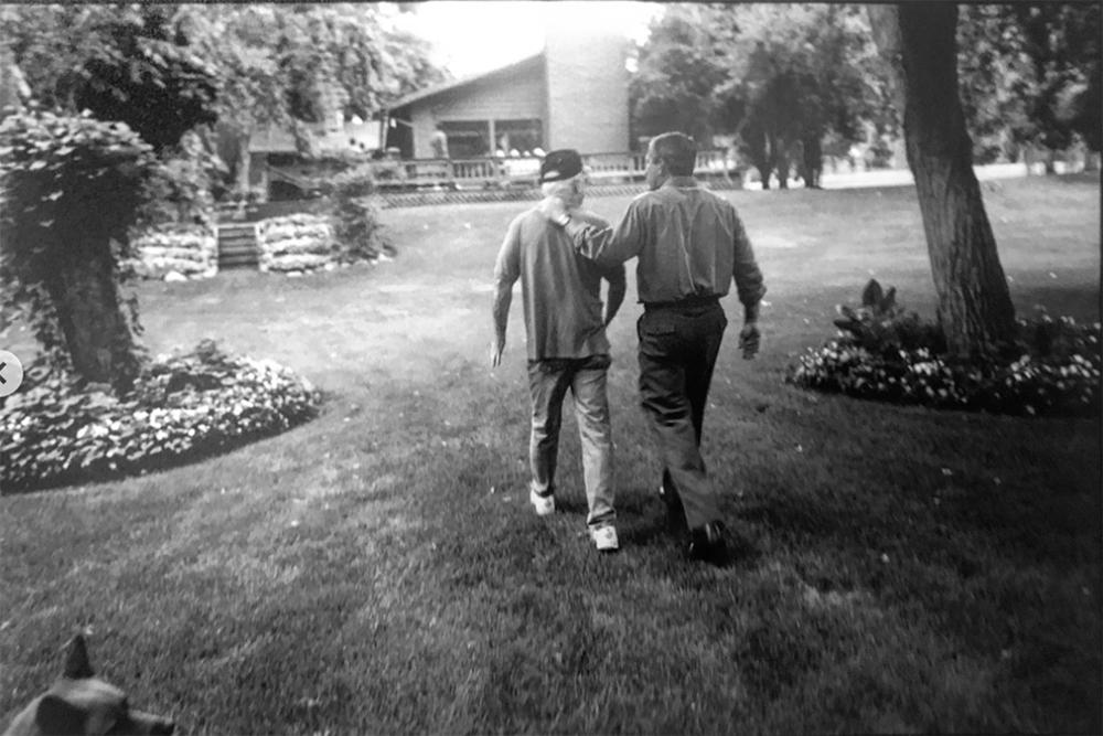 A previously unpublished image of Sen. John McCain and then-Gov. George Bush at McCain's ranch outside Sedona, Arizona, circa 2000.