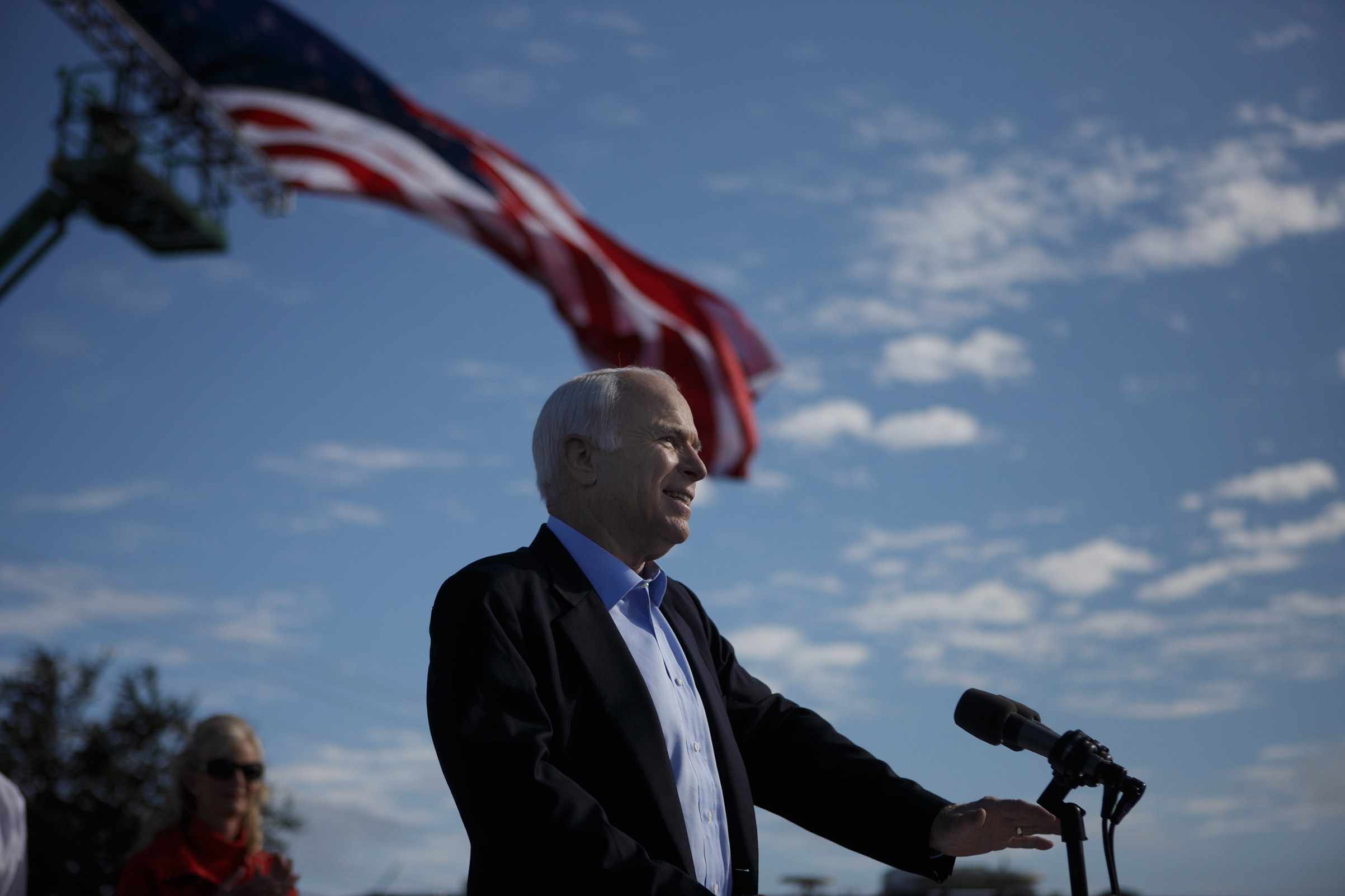 John McCain in Blountville, Tennessee on the final day of campaigning before the U.S. Presidential election on November 3, 2008.