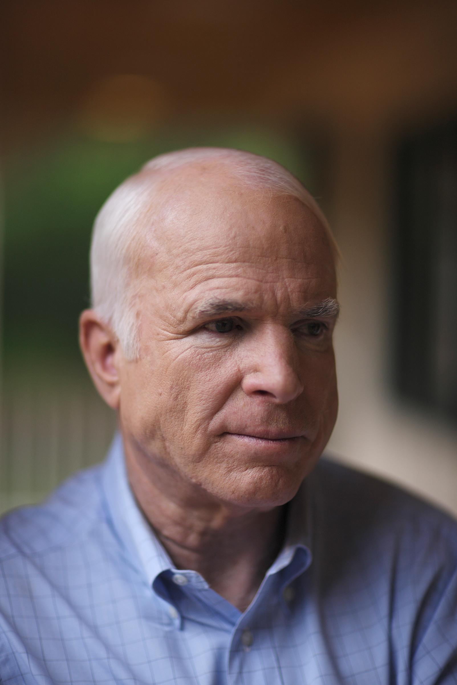 John McCain at his ranch outside Sedona, Arizona on August 23, 2008.