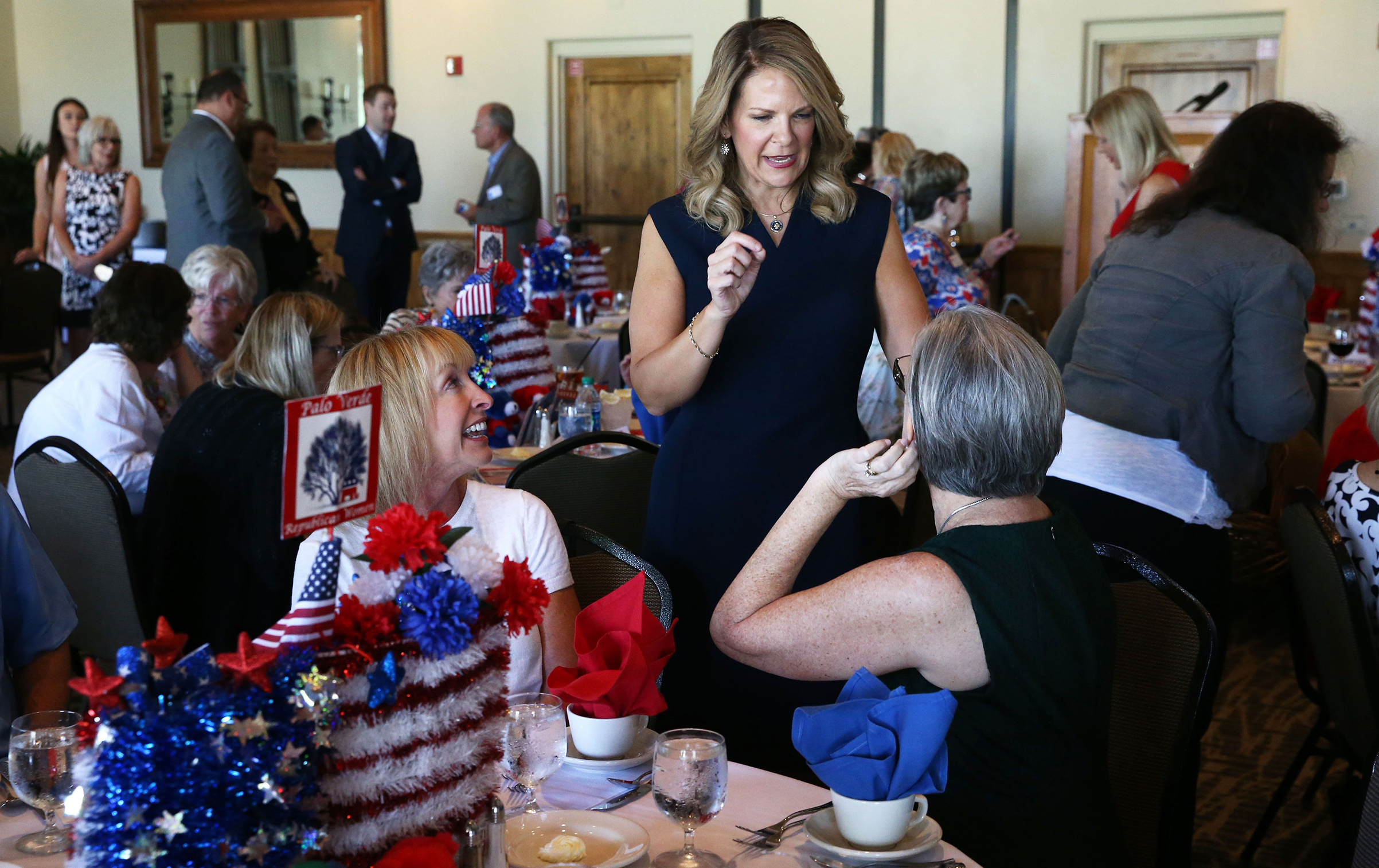 Ward chats up voters at the Palo Verde Republican Women's luncheon in Scottsdale on July 18