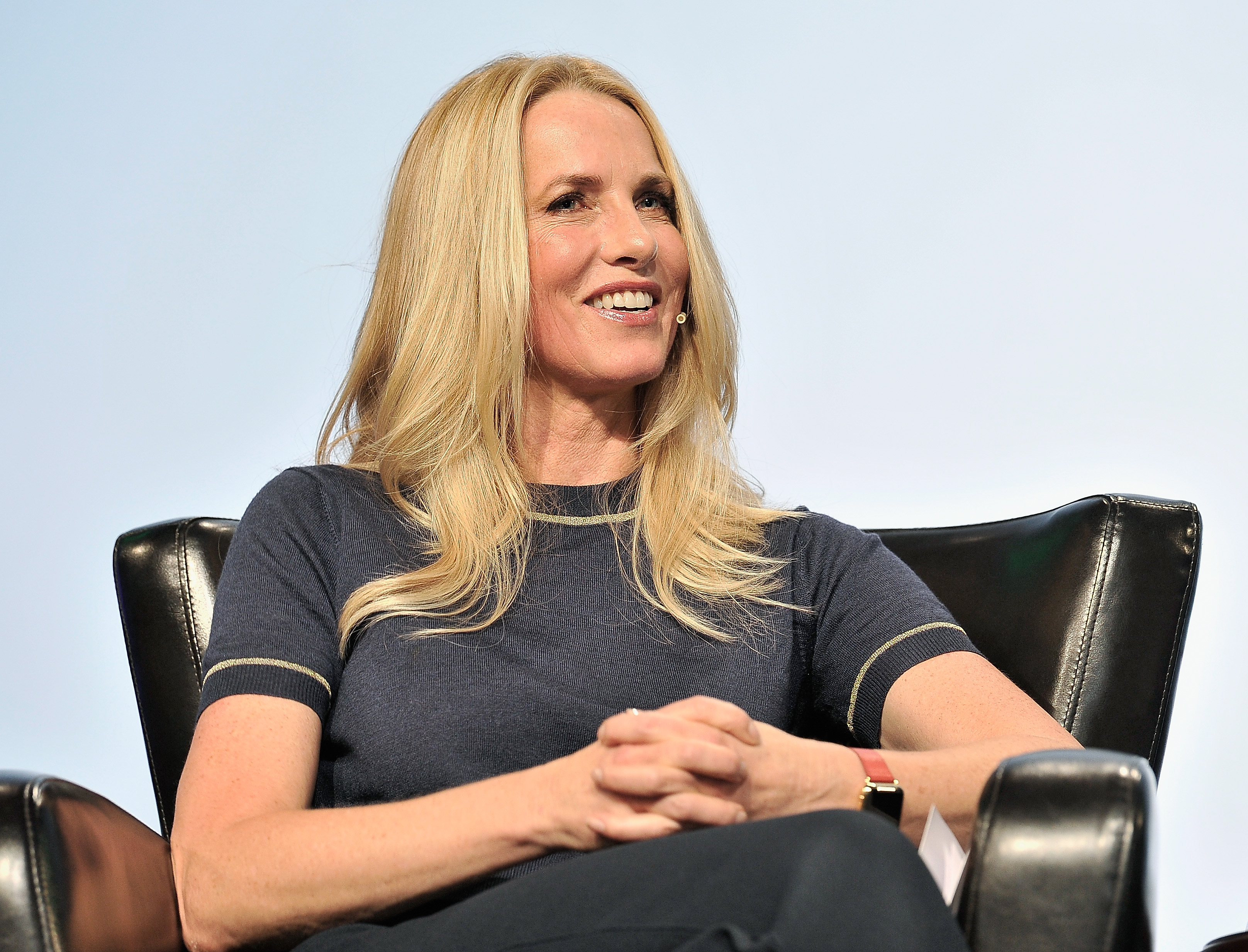 Emerson Collective Founder and President Laurene Powell Jobs speaks onstage during TechCrunch Disrupt SF 2017 at Pier 48 on September 20, 2017 in San Francisco, California.