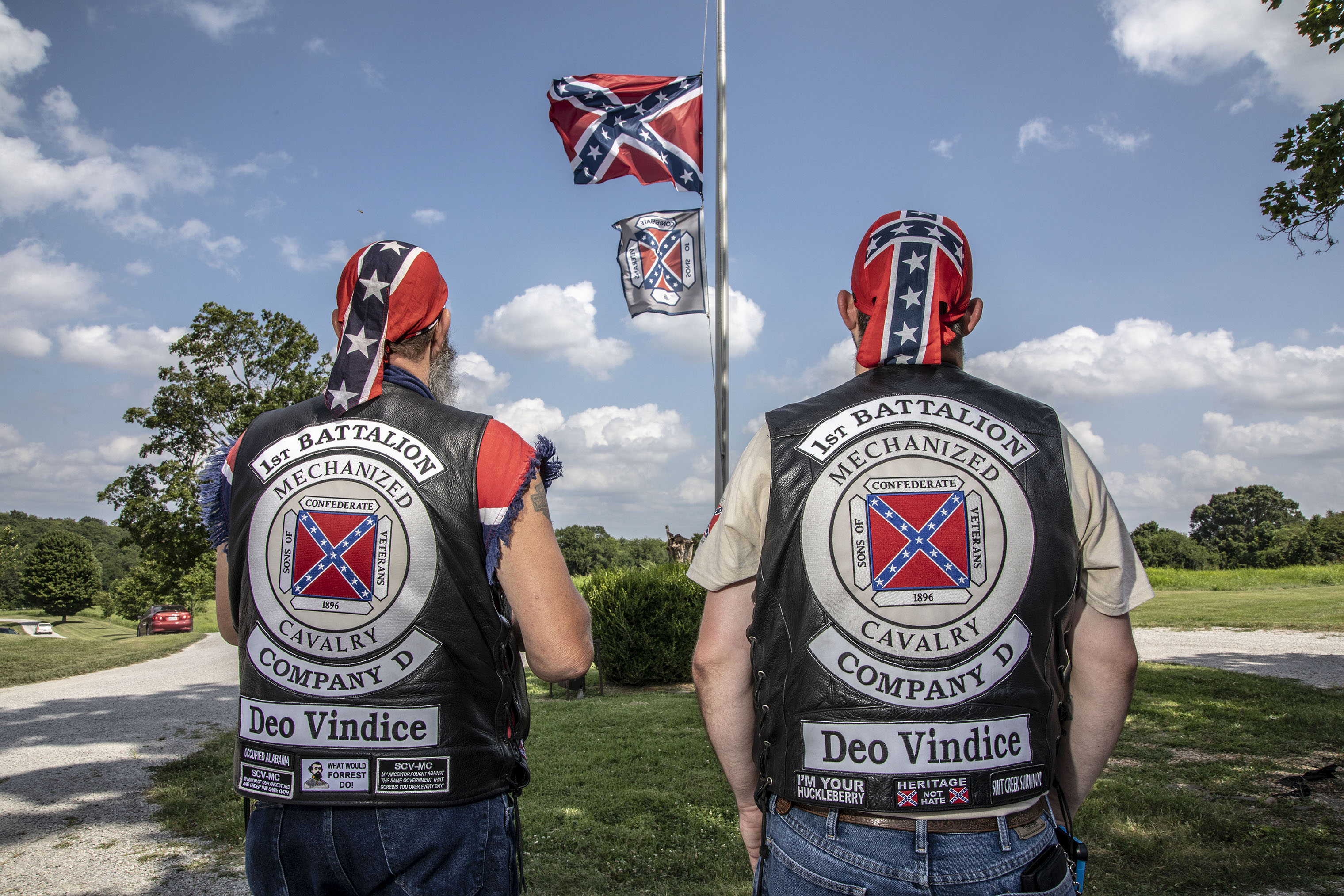 Attendees at the dedication of the National Confederate Museum in Elm Springs, Tenn., on July 20, 2018.