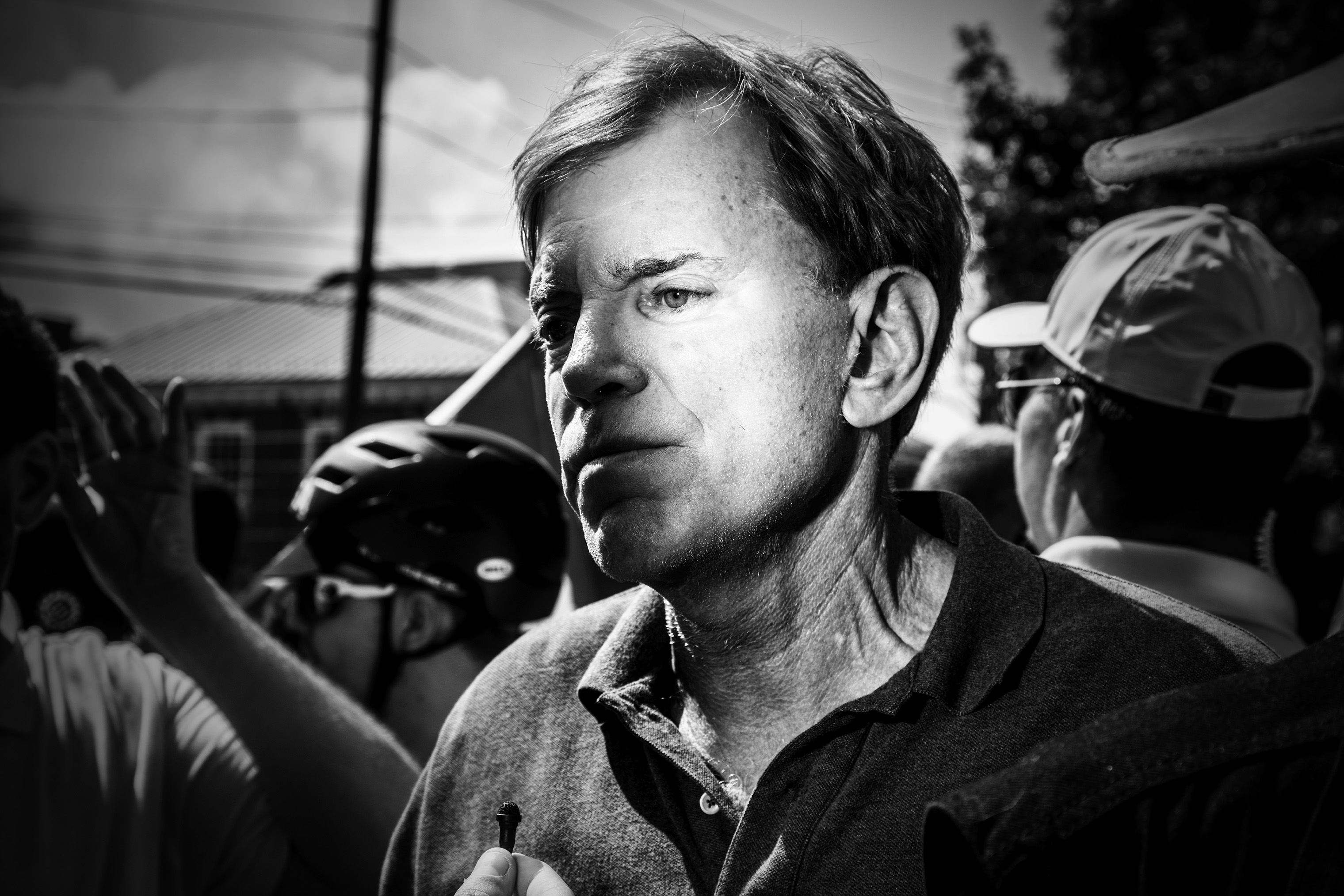 White nationalist and former KKK grand wizard, David Duke at the Unite The Right rally in Charlottesville, Va., on Aug. 12, 2017.