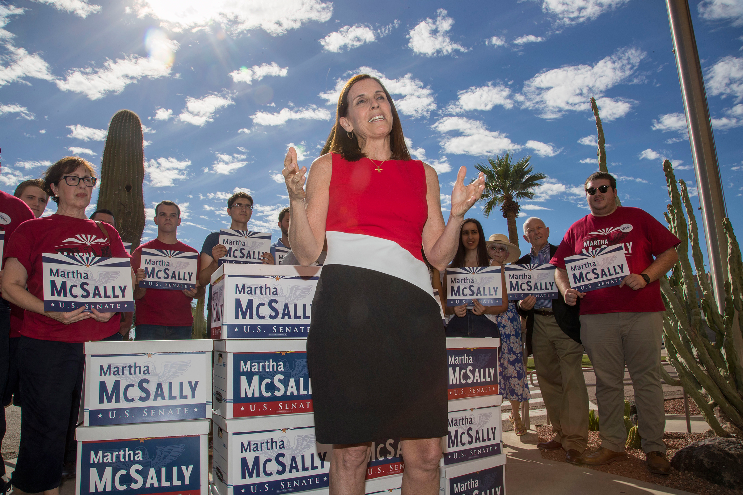 Once a critic, McSally has embraced Trumpin pursuit of his base