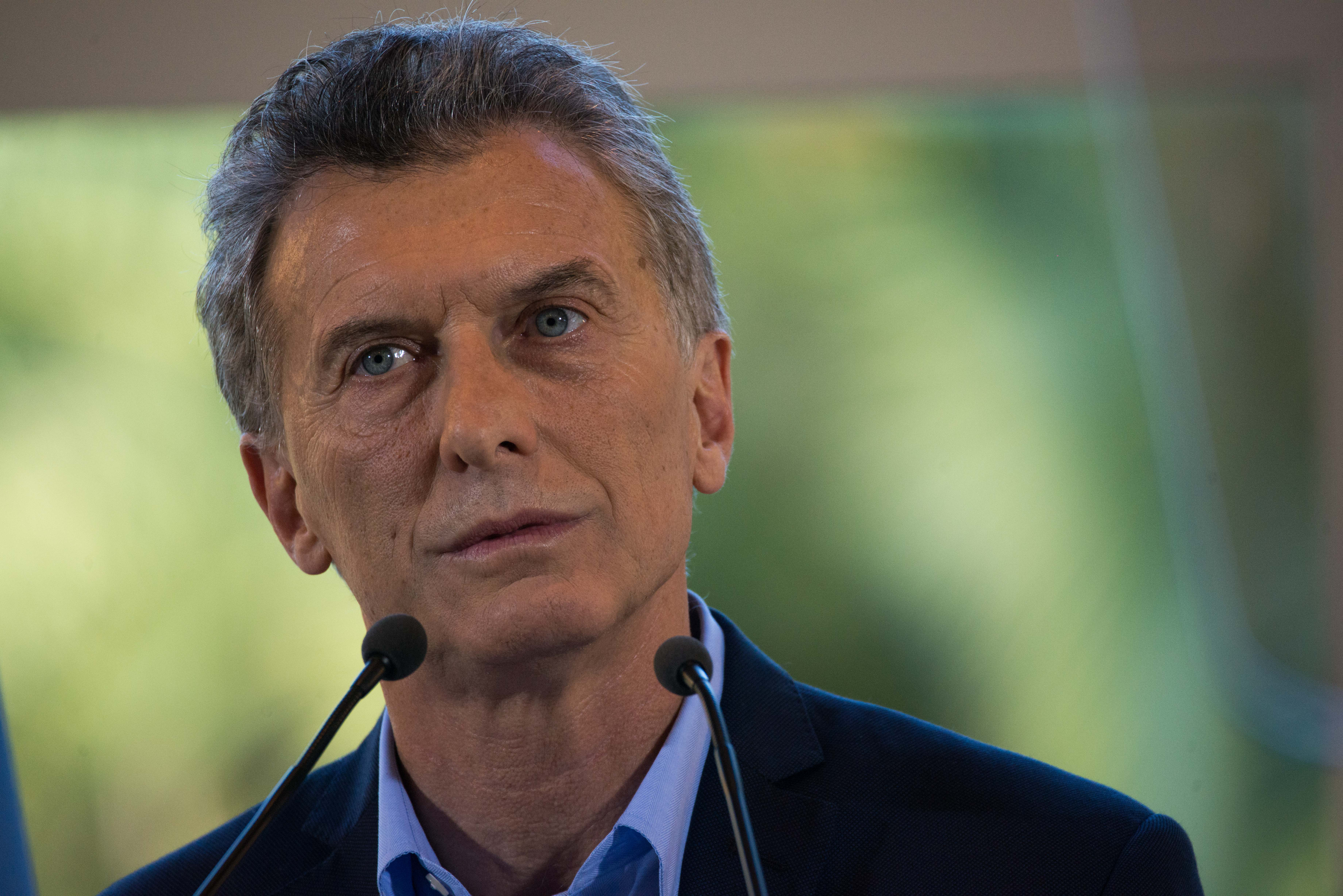 Argentina's President Mauricio Macri talks during a press conference at Quinta de Olivos in Buenos Aires, Argentina, Wednesday, March 28, 2017.