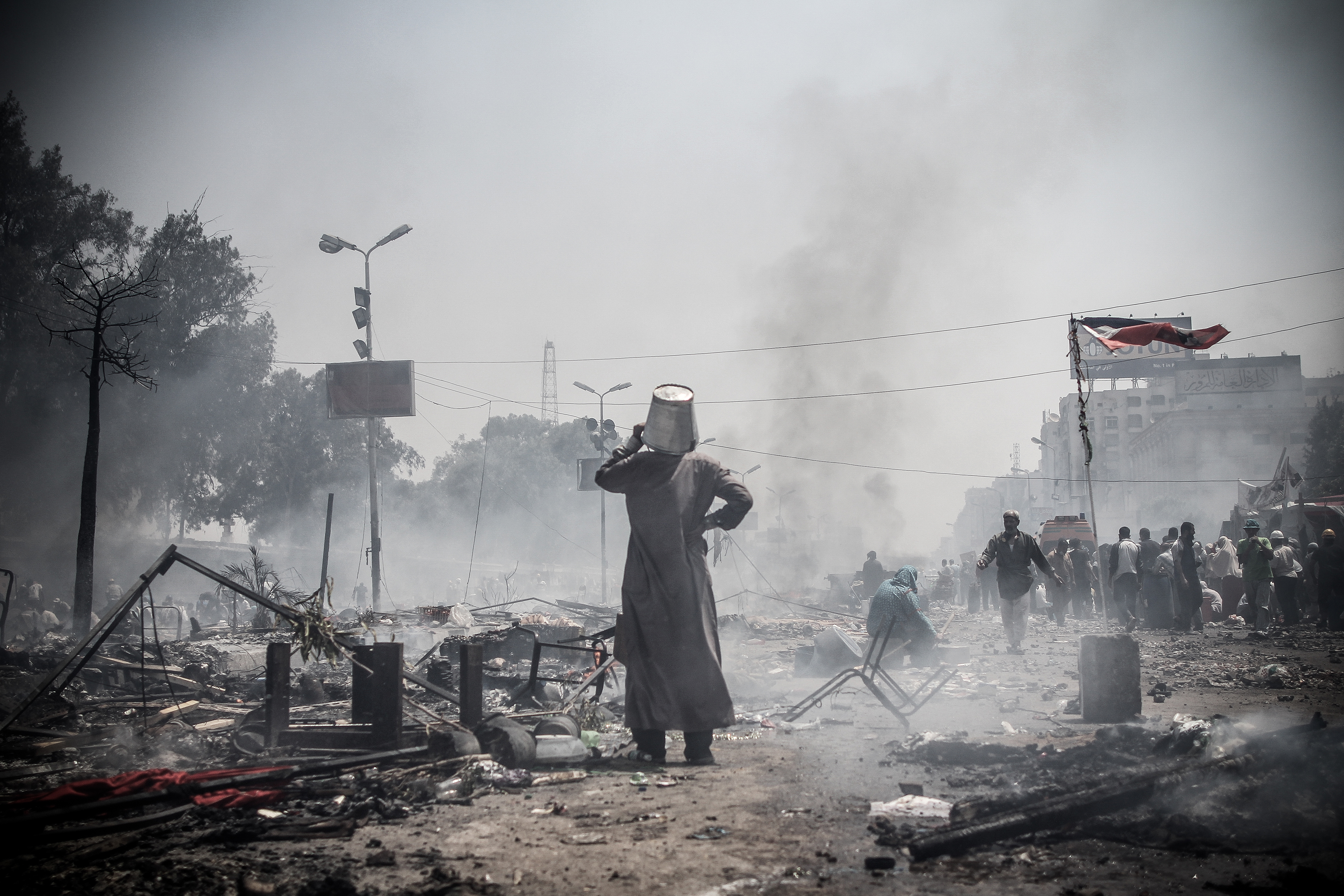 Around 800 people were killed in Rabaa Square as the military dispersed a pro-Morsi sit-in.