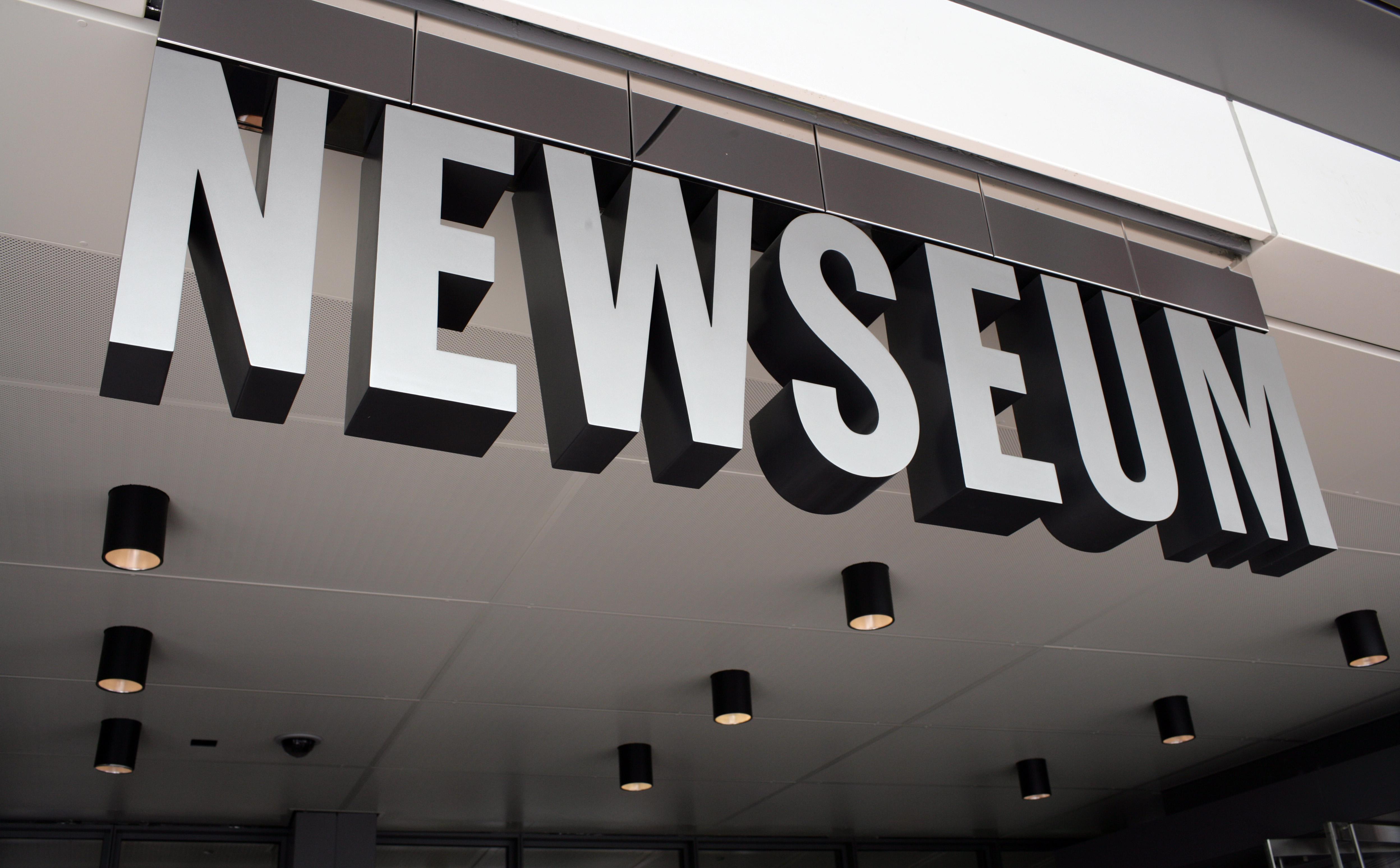 Entrance of Newseum.