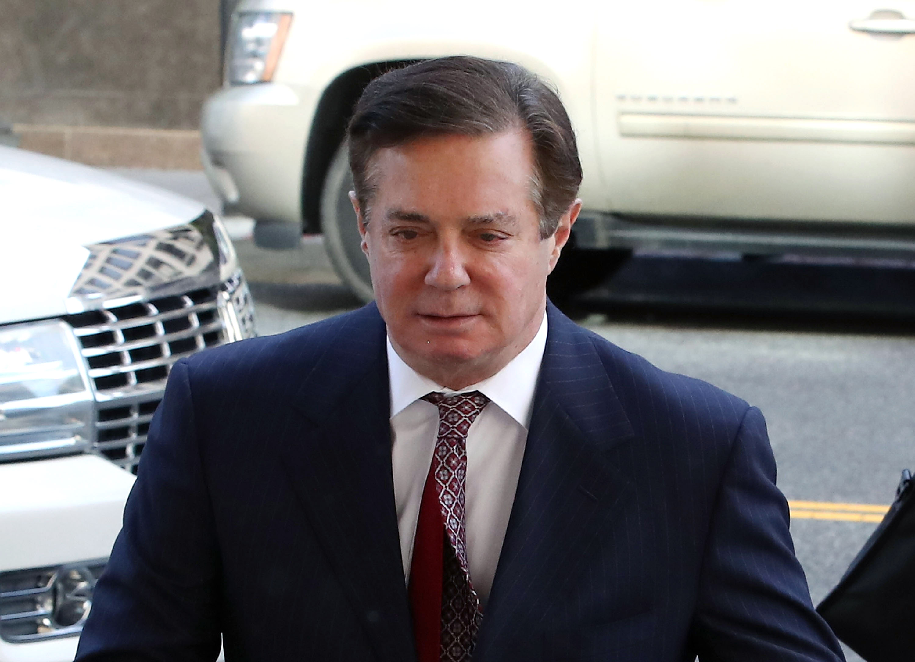 Former Trump campaign manager Paul Manafort arrives at the E. Barrett Prettyman U.S. Courthouse for a hearing in Washington, DC on June 15, 2018 .