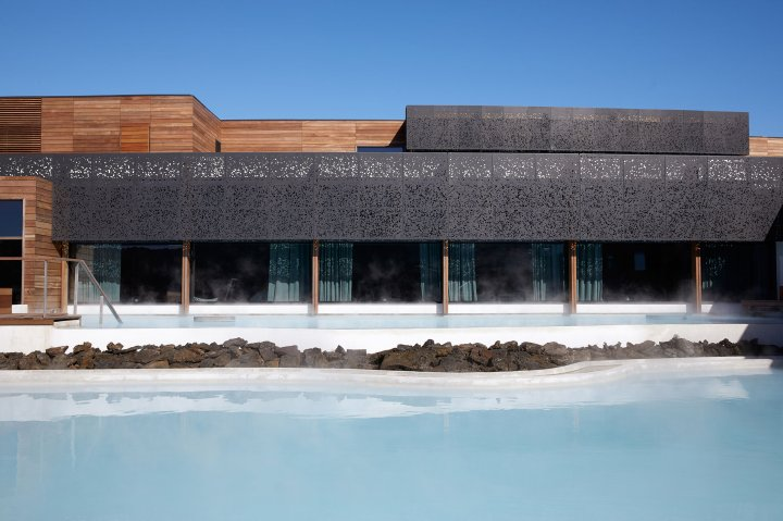 An exterior view of a room at the Retreat at the Blue Lagoon