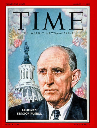Richard Russell on the Aug. 12, 1957, cover of TIME