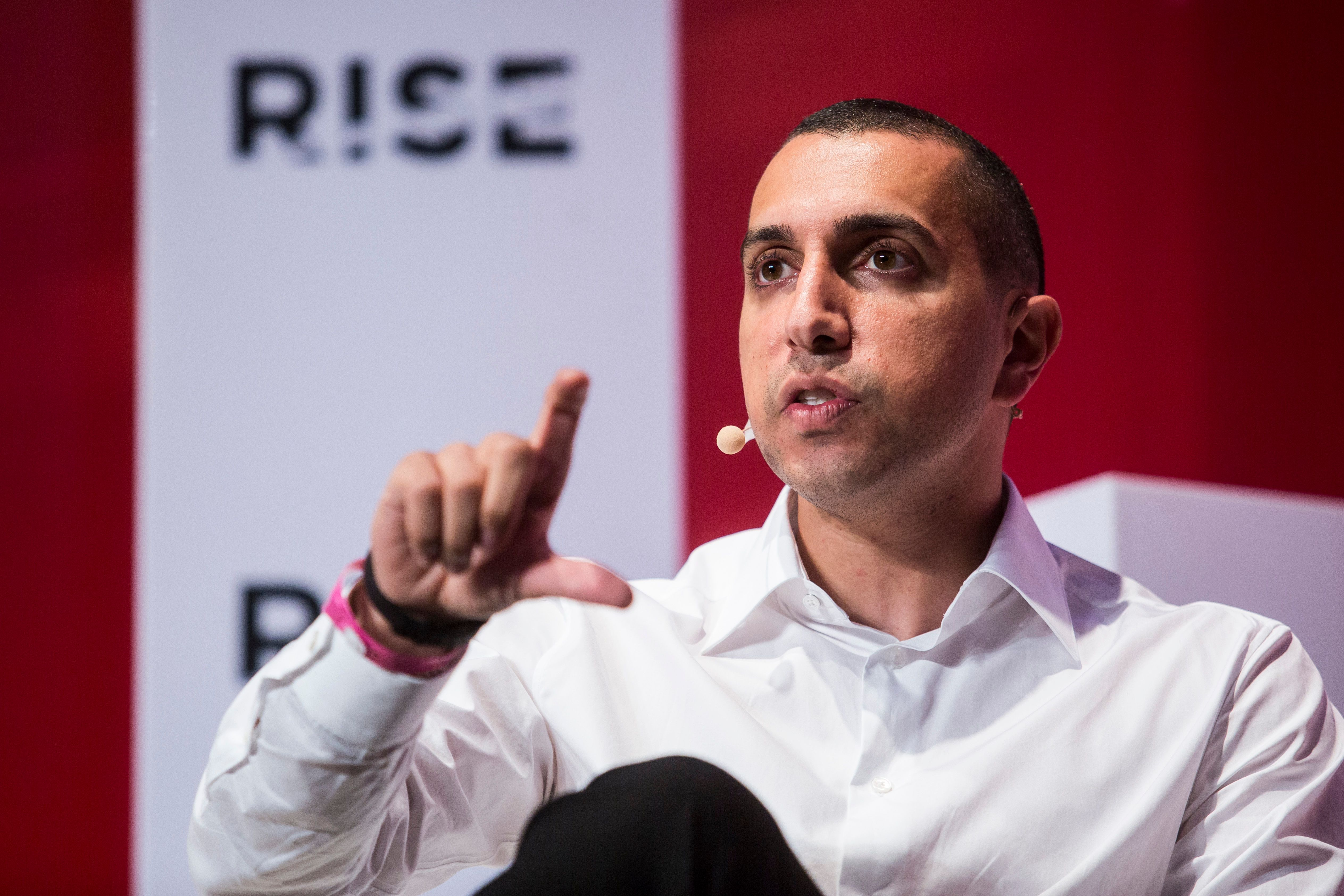Sean Rad, founder of dating app Tinder, speaks at the RISE Technology Conference in Hong Kong on July 11, 2018.