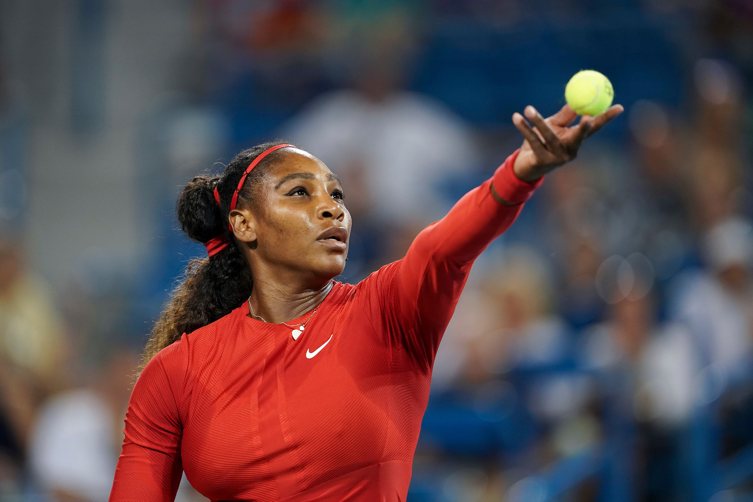 Serena's comeback has been mixed; she lost in the second round at the Cincinnati Masters, here on Aug. 14