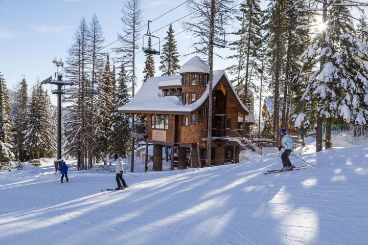 A ski-house at Snow Bear Chalet in Montana