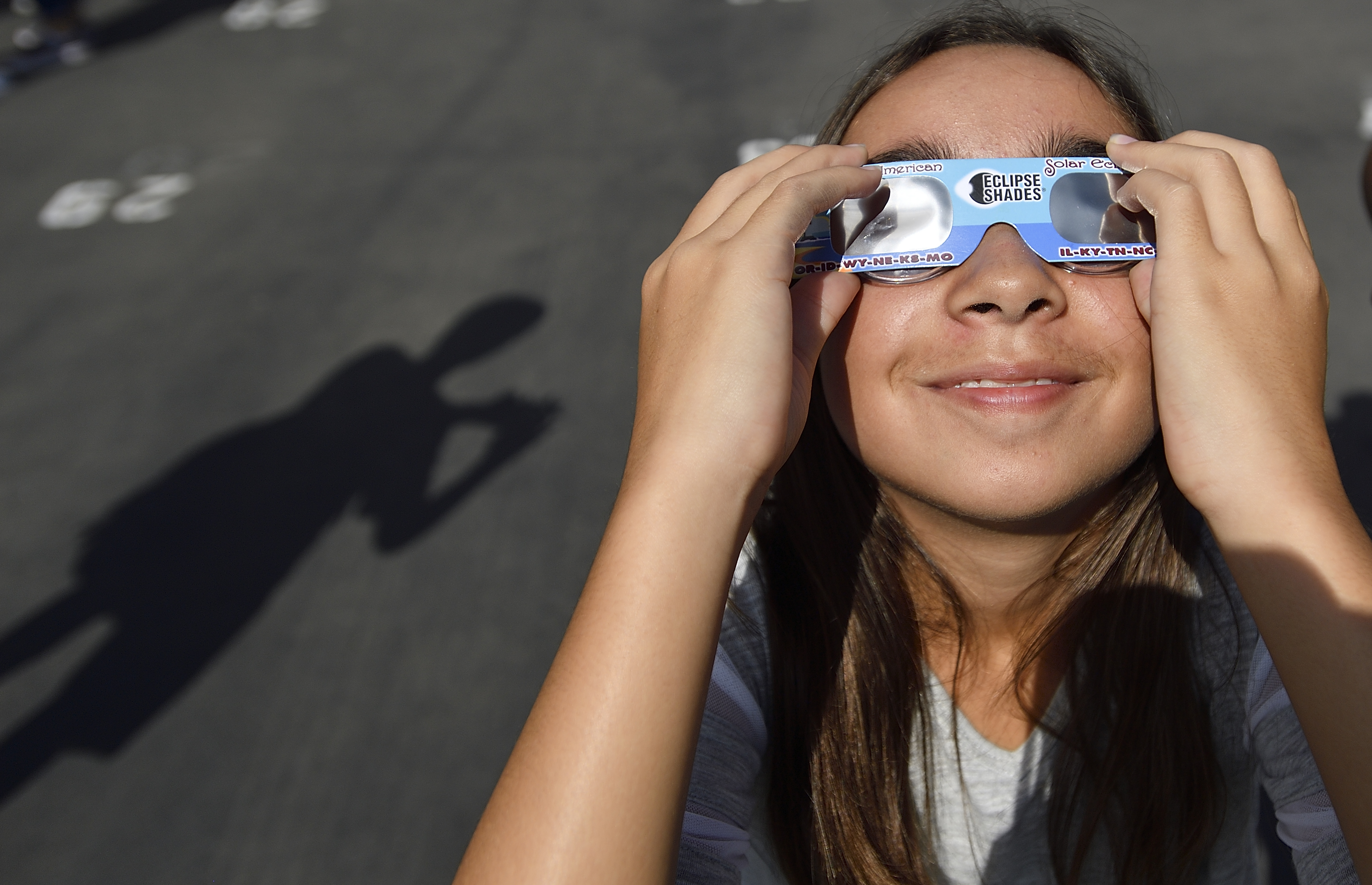 Special glasses to look at the partial solar eclipse. (Photo by Jeff Gritchen/Orange County Register via Getty Images)
