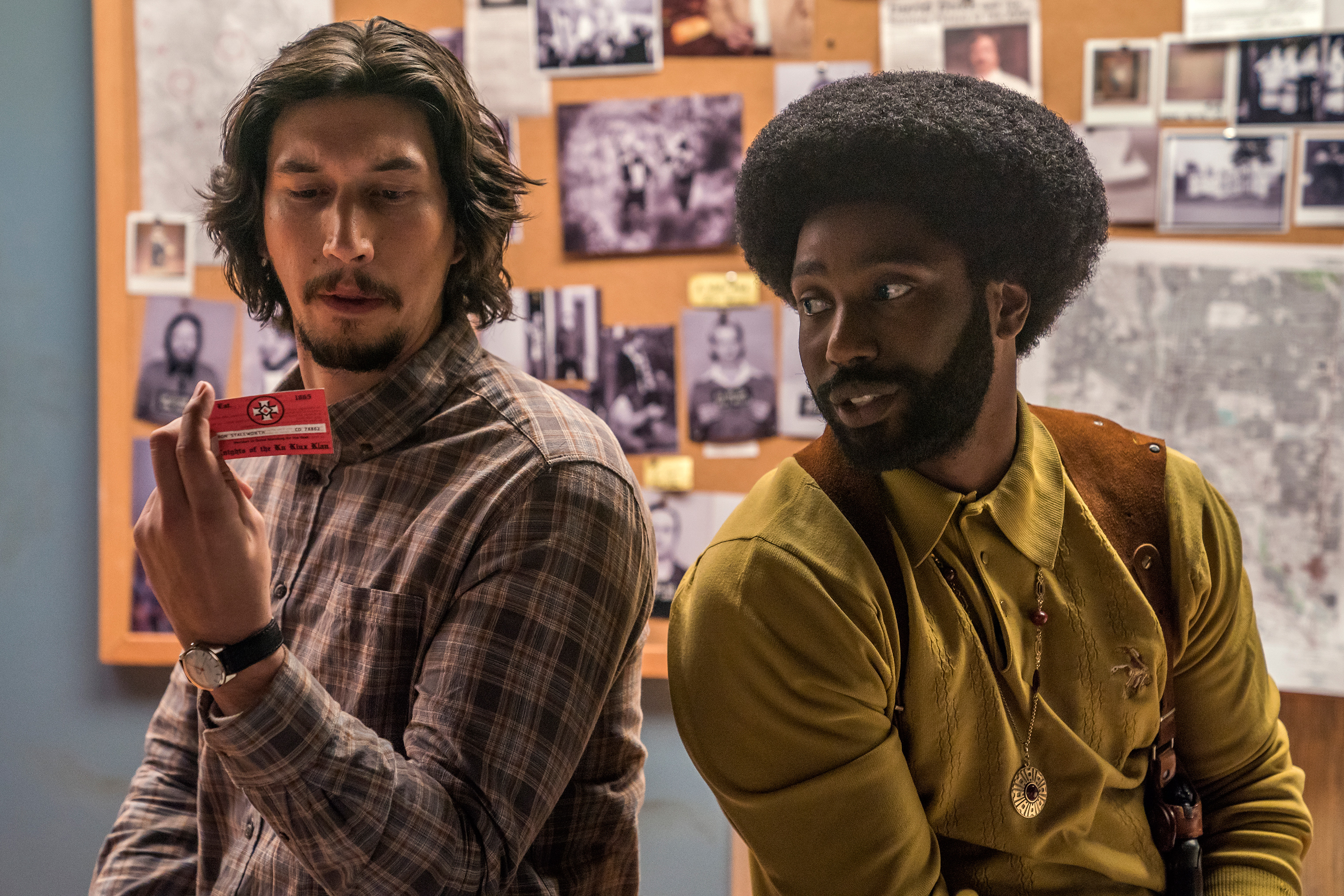 """Adam Driver, left, with John David Washington, whom Lee has known his whole life: """"I didn't have him audition,"""" Lee says"""