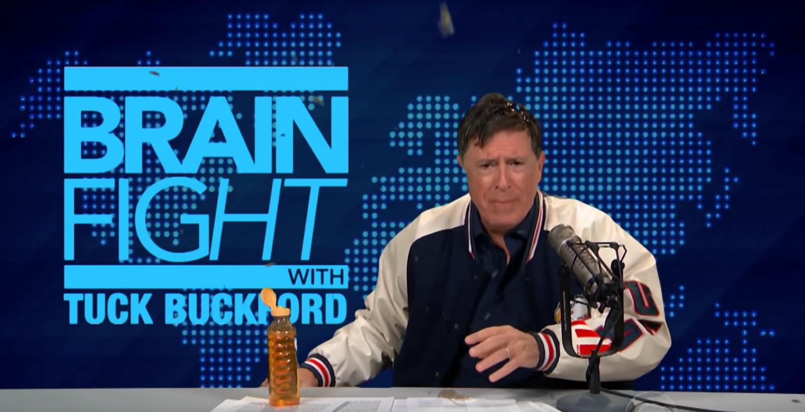 Stephen Colbert spoofs Alex Jones