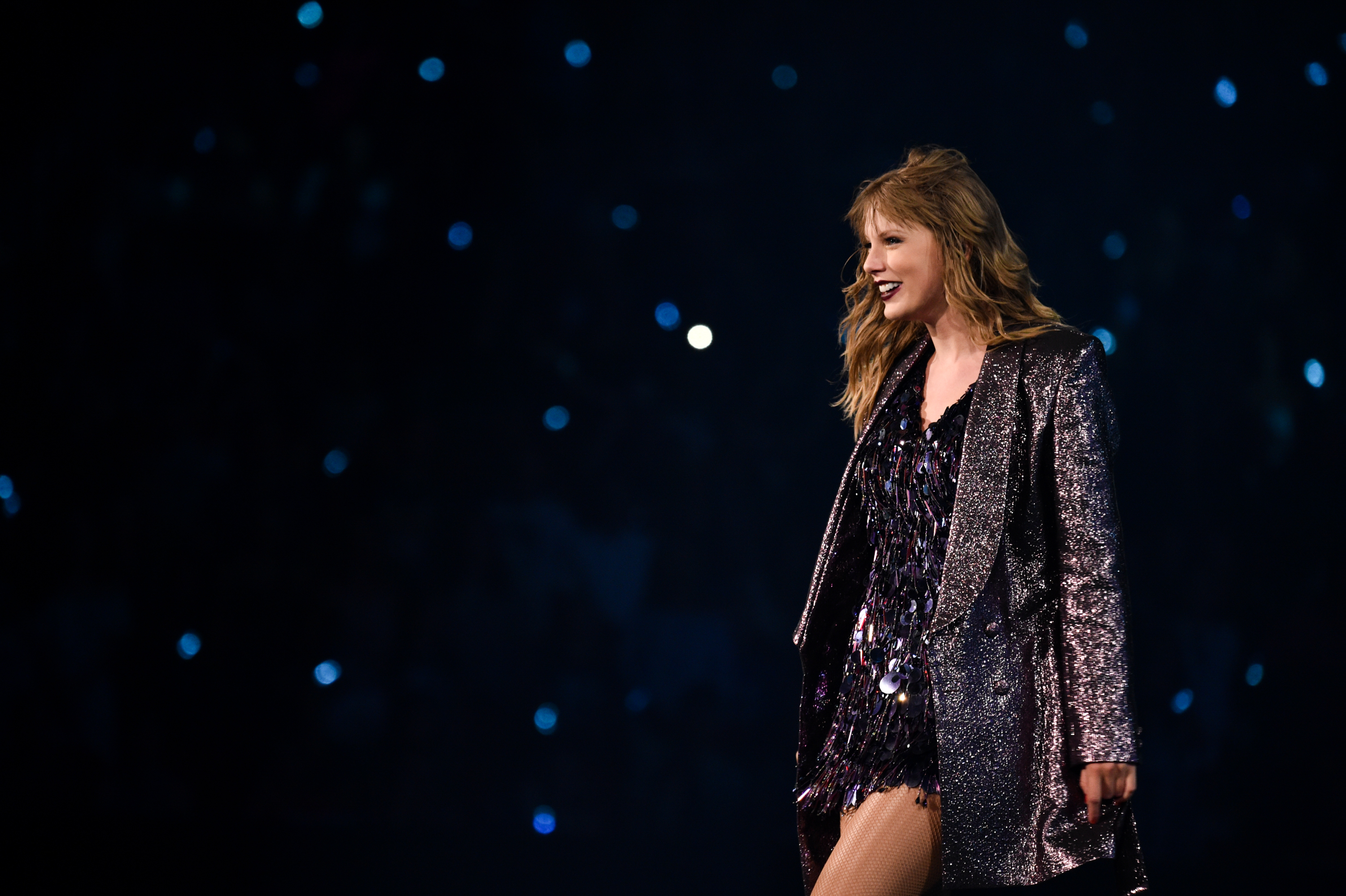 Taylor Swift performs onstage during the Taylor Swift reputation Stadium Tour at Mercedes-Benz Stadium on August 11, 2018 in Atlanta, Georgia.  (Photo by John Shearer/TAS18/Getty Images for TAS)
