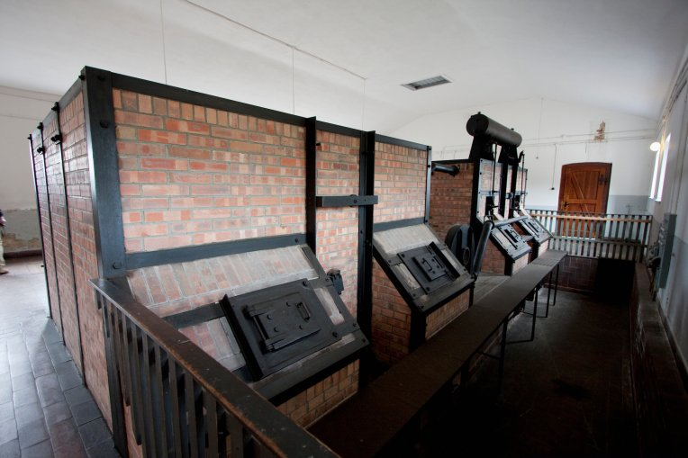 Ovens By Topf & Sohne In The Crematorium, Buchenwald Concentration Camp, Germany (Photo by: Insights/UIG via Getty Images)