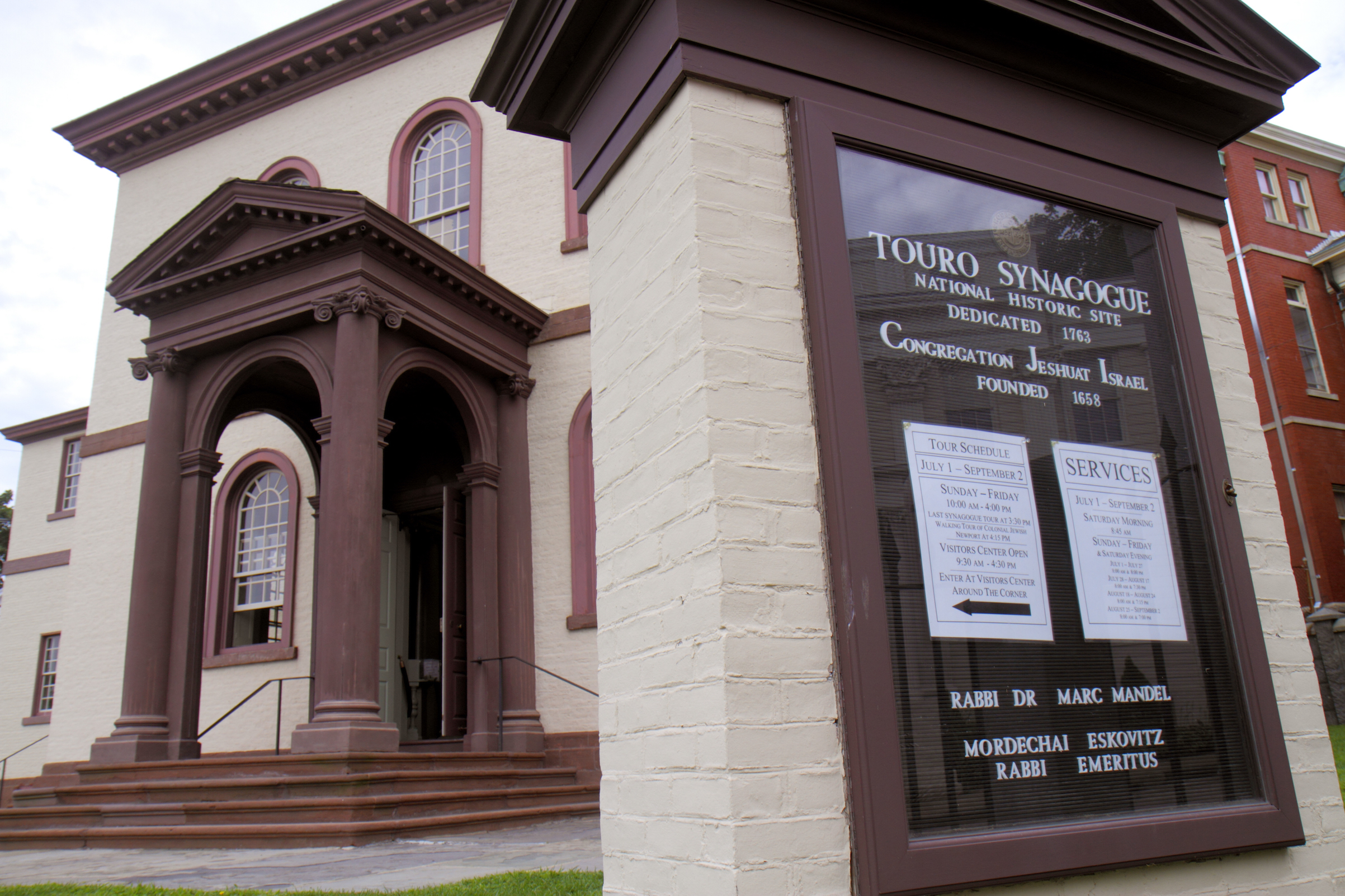 Touro Synagogue National Historic Site pictured in 2015. The synagogue, the oldest one standing in the U.S., was dedicated in 1763.