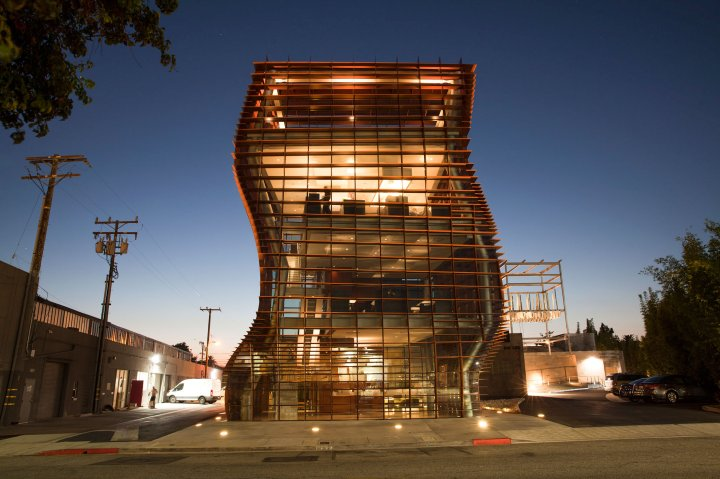 The exterior of the Vespertine restaurant