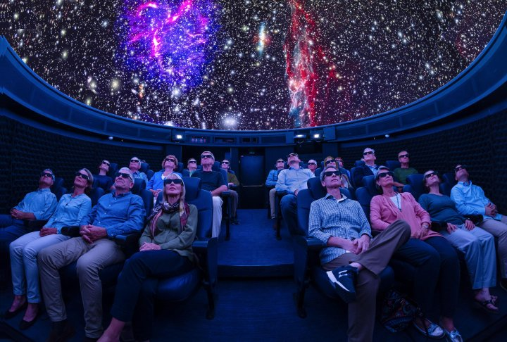Visitors in the planetarium on the Viking Orion cruise ship