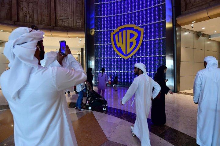 Vistors at the Warner Brothers World in Abu Dhabi
