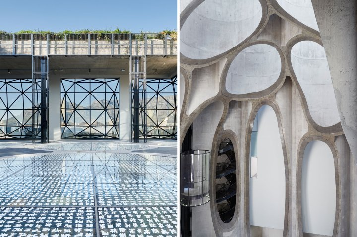 Details of the architecture at Zeitz MOCAA in Cape Town