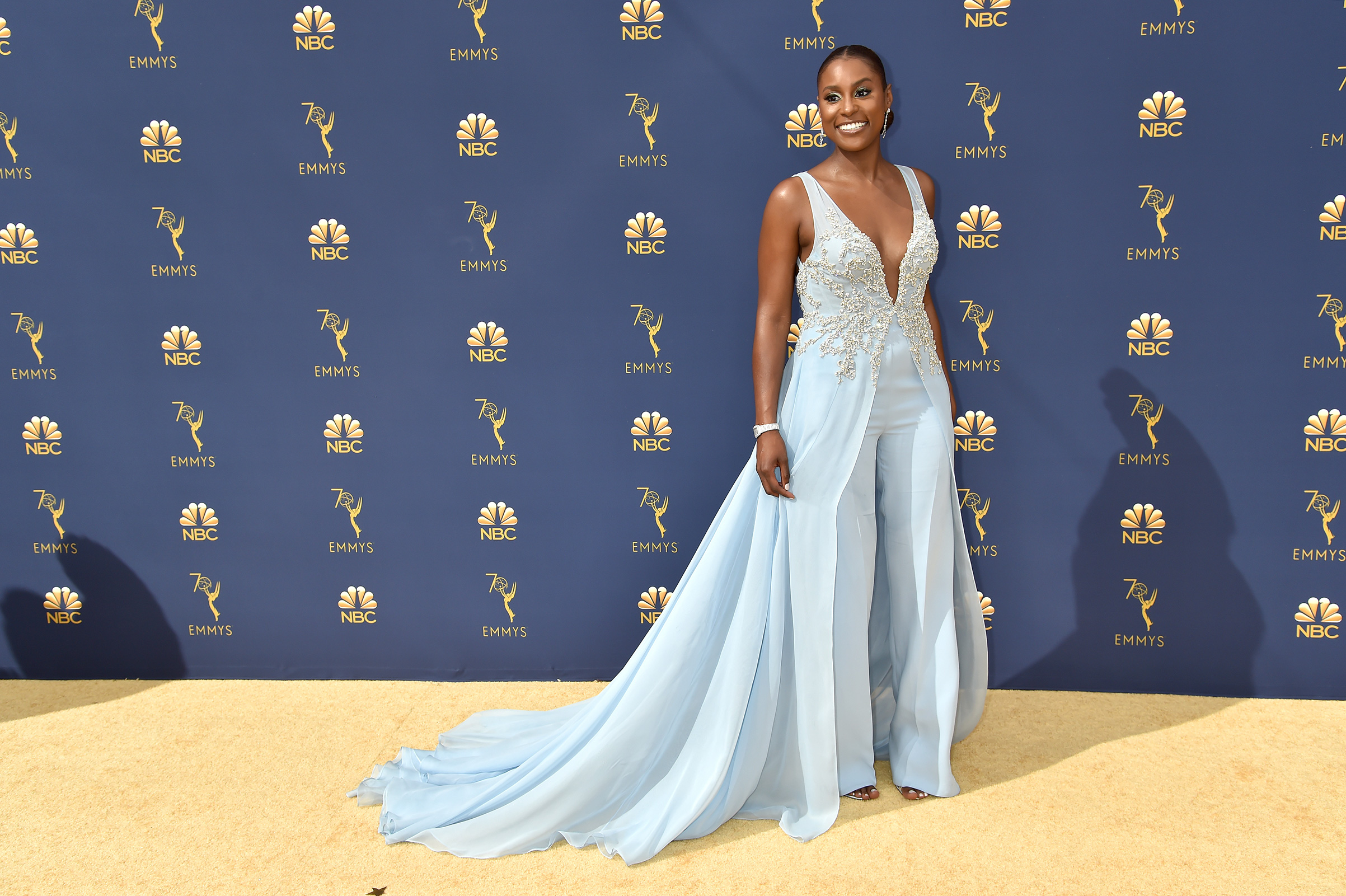 Issa Rae attends the 70th Emmy Awards on Sept. 17.