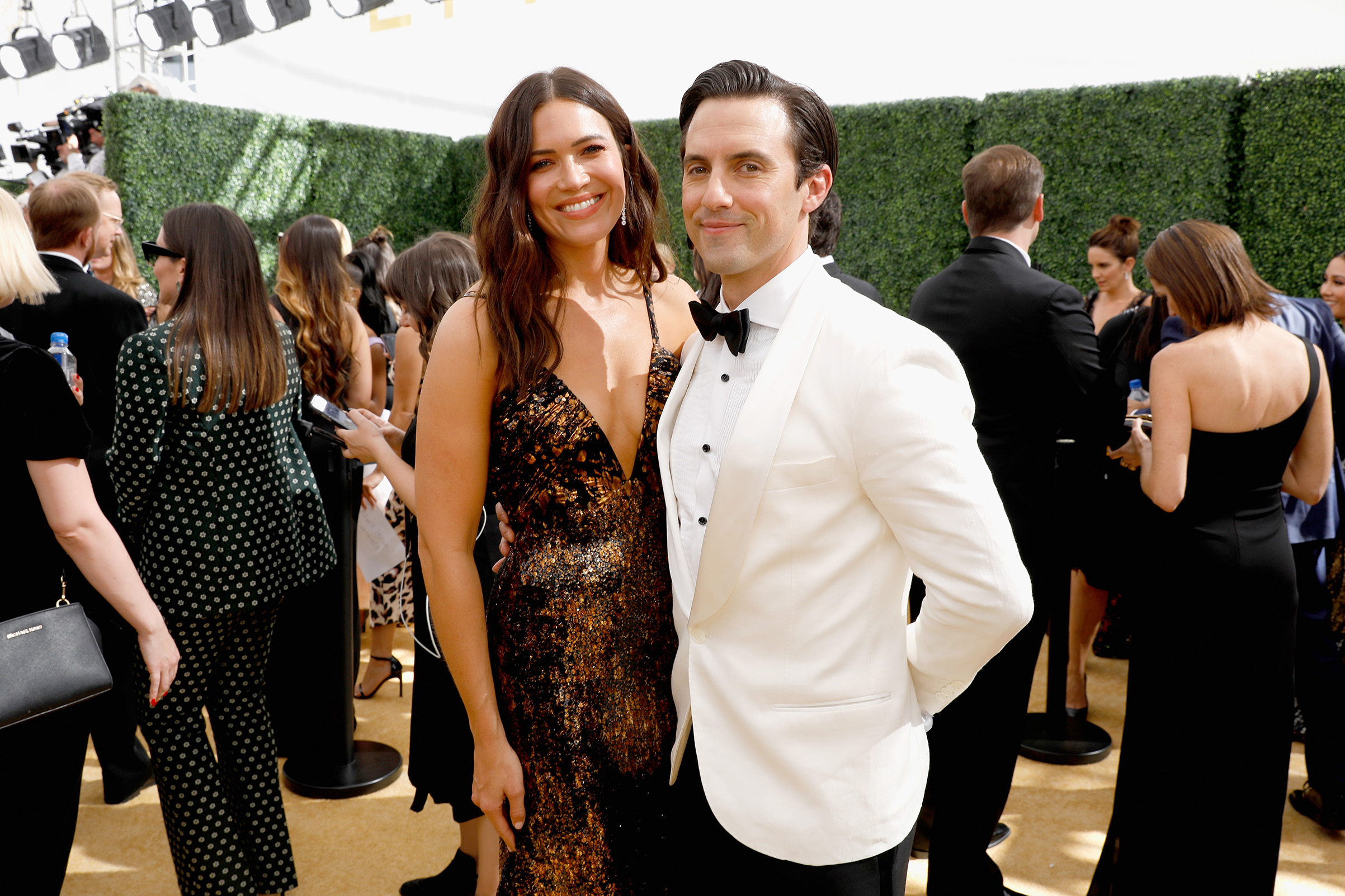 Actors Mandy Moore and Milo Ventimiglia arrive to the 70th Annual Primetime Emmy Awards on Sept. 17.