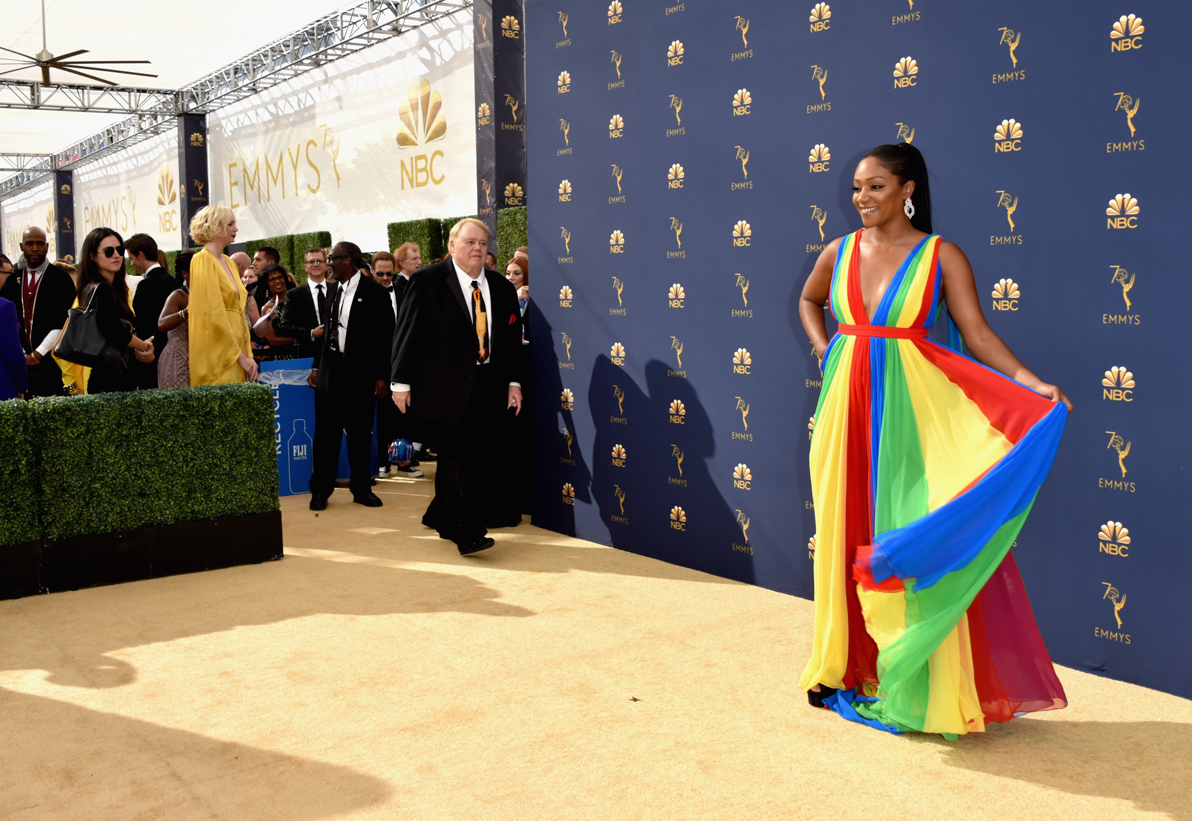 Tiffany Haddish attends the 70th Emmy Awards on Sept. 17.