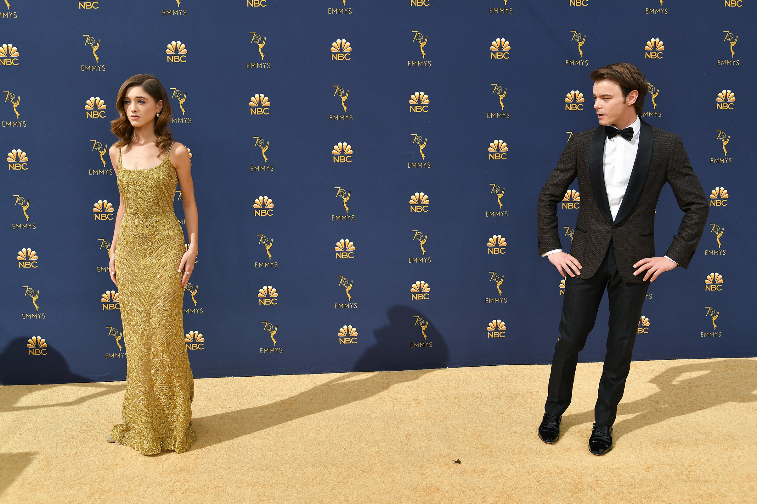 Natalia Dyer and Charlie Heaton at the 70th Primetime Emmy Awards on Sept. 17.