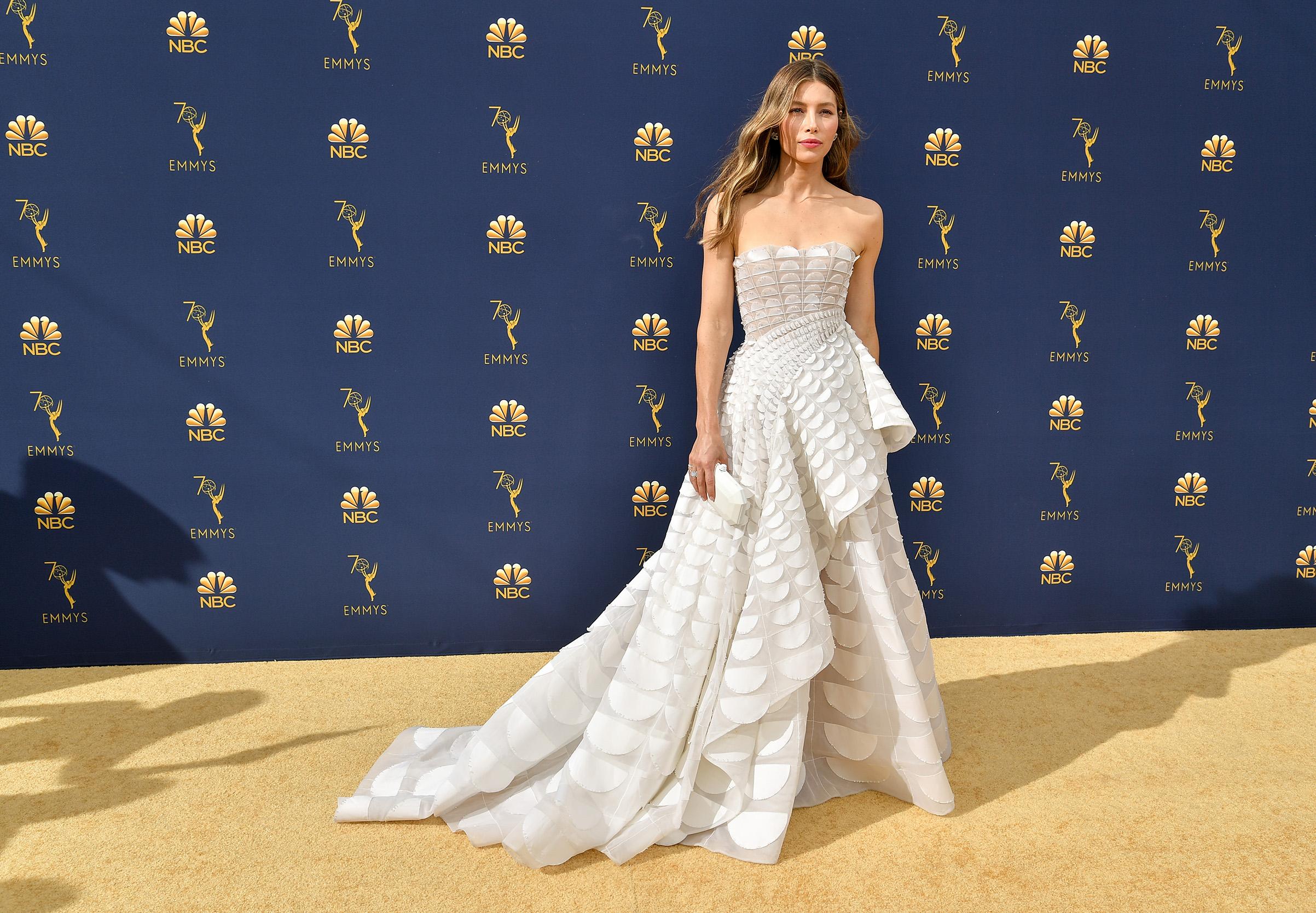 Jessica Biel at the 70th Primetime Emmy Awards on Sept. 17.