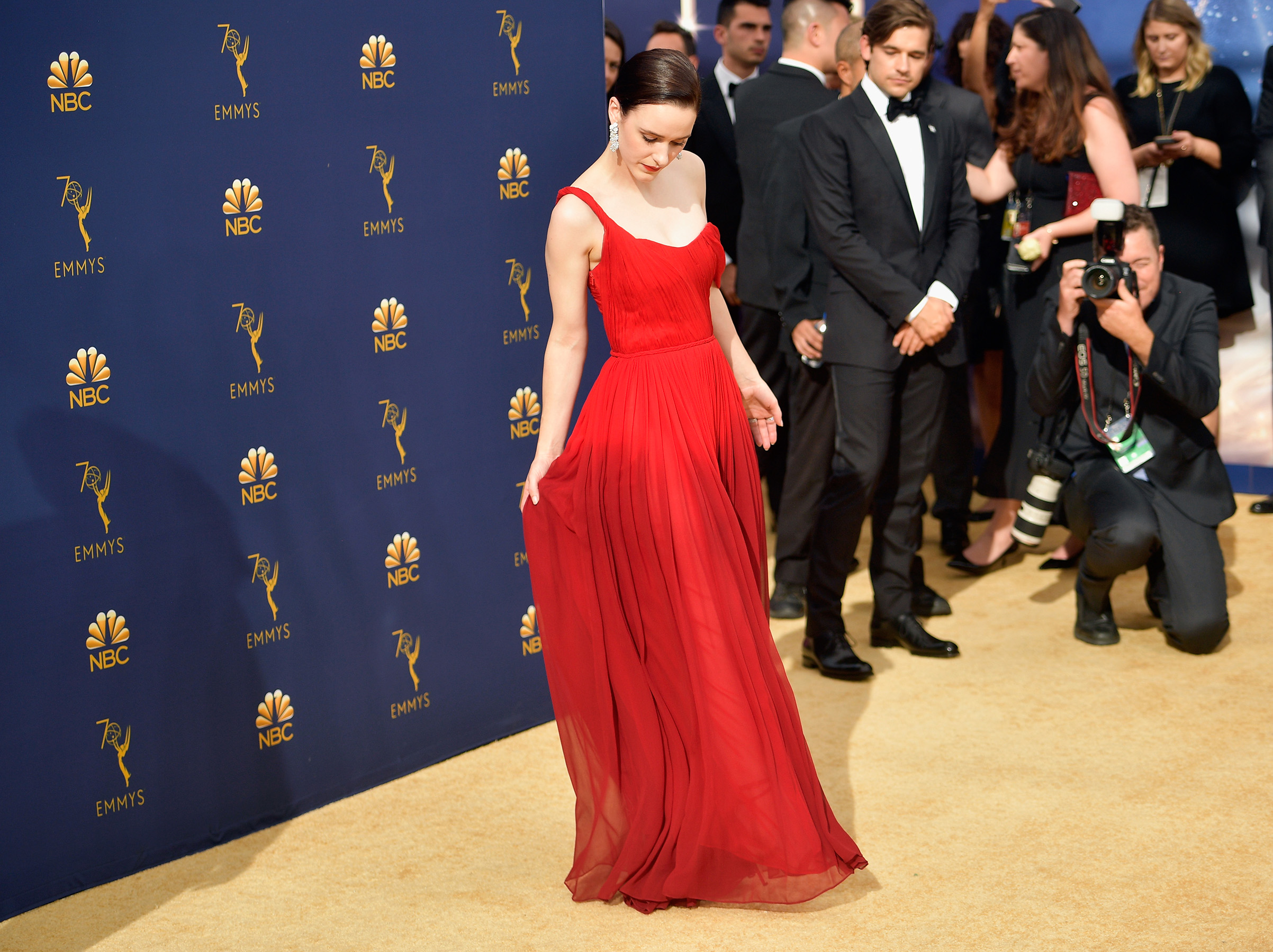 Rachel Brosnahan attends the 70th Emmy Awards on Sept. 17.