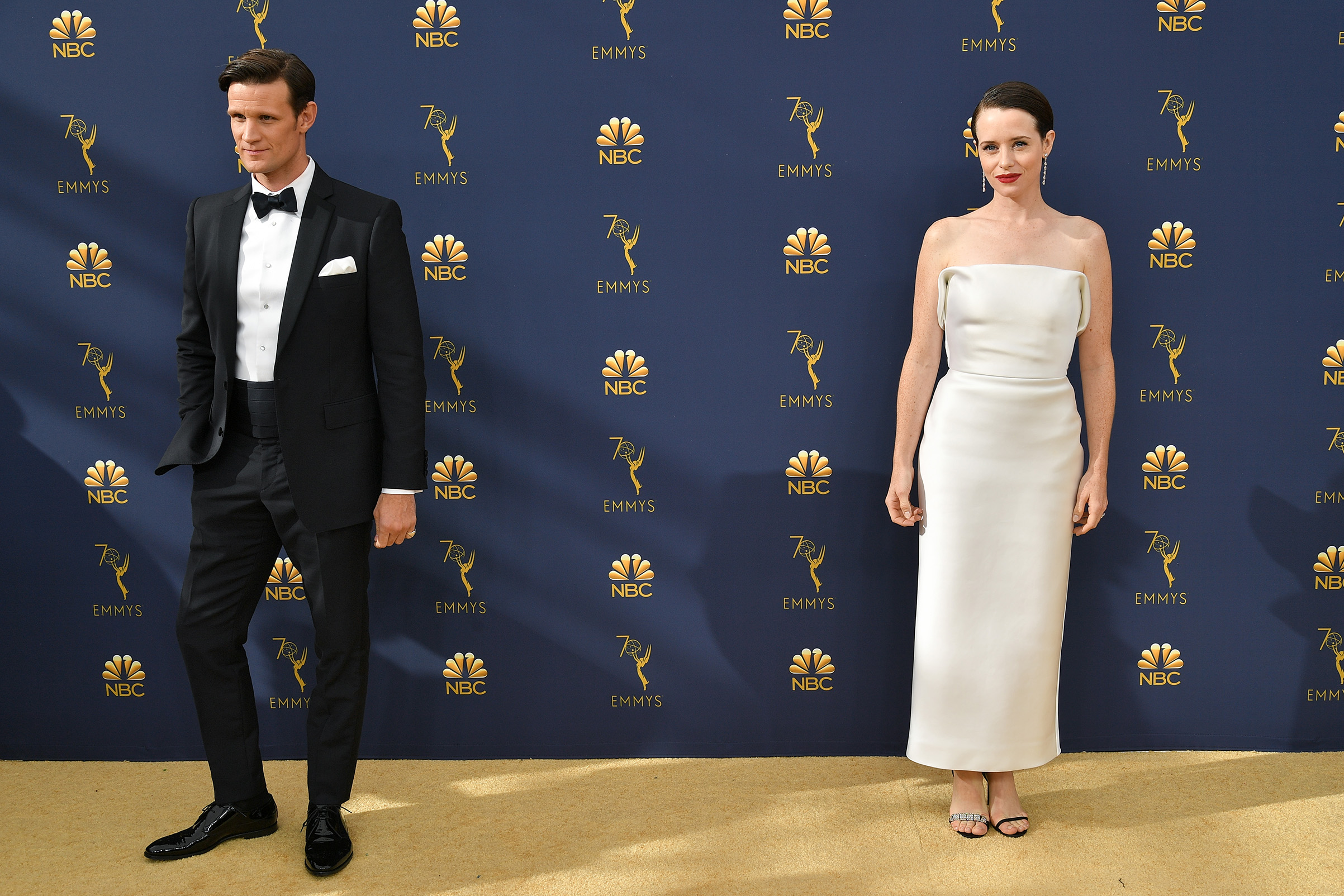 Matt Smith and Claire Foy at the 70th Primetime Emmy Awards on Sept. 17.