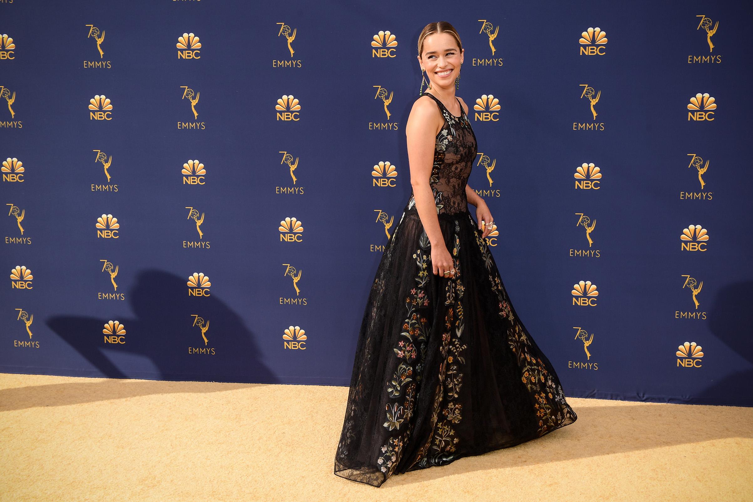 Emilia Clarke at the 70th Primetime Emmy Awards on Sept. 17.