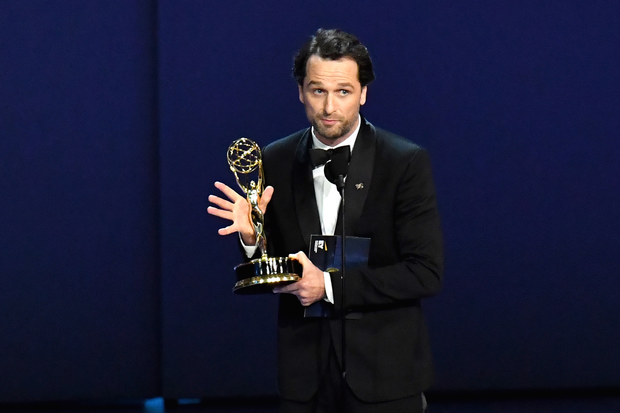 Matthew Rhys accepts the Outstanding Lead Actor in a Drama Series award for 'The Americans' onstage during the 70th Emmy Awards at Microsoft Theater on Sept. 17, 2018 in Los Angeles.