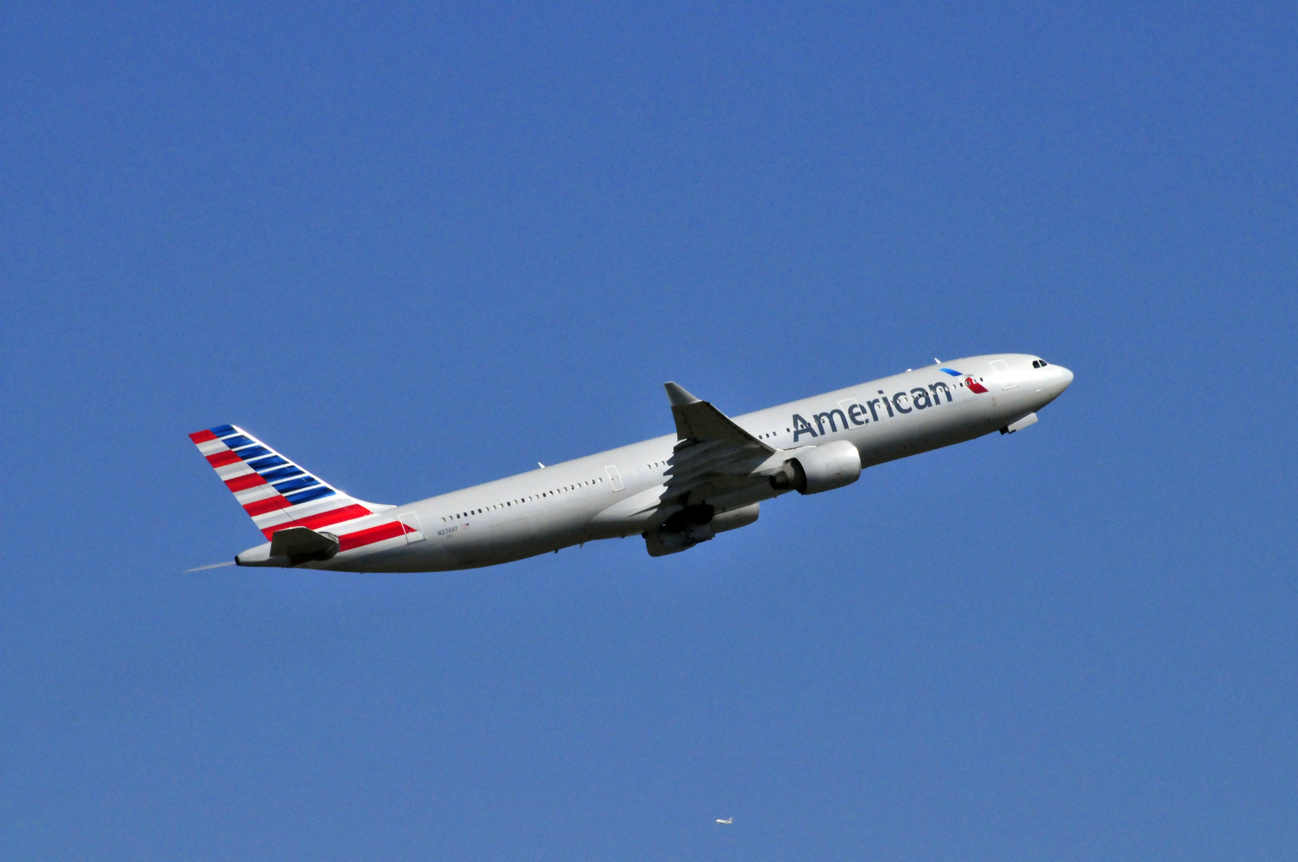 An Airbus A330 belonging to American Airlines.