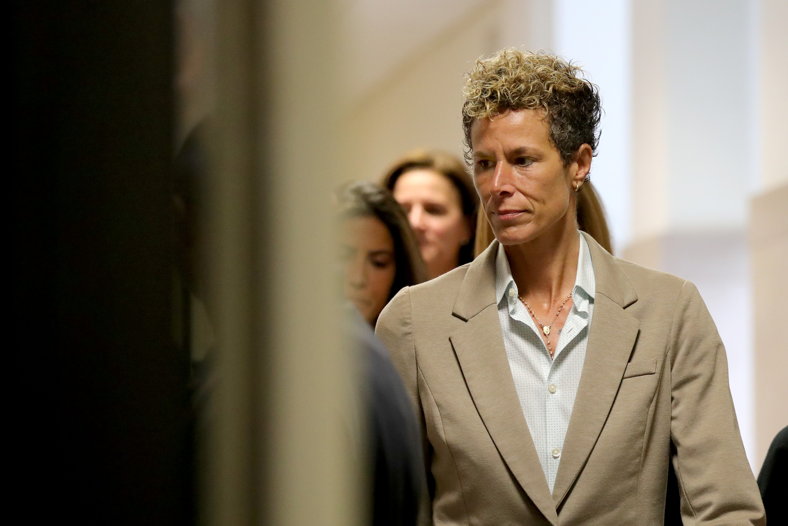 Andrea Constand arrives at the sentencing hearing for the sexual assault trial of entertainer Bill Cosby at the Montgomery County Courthouse September 24, 2018 in Norristown, Pennsylvania. (Pool—Getty Images)