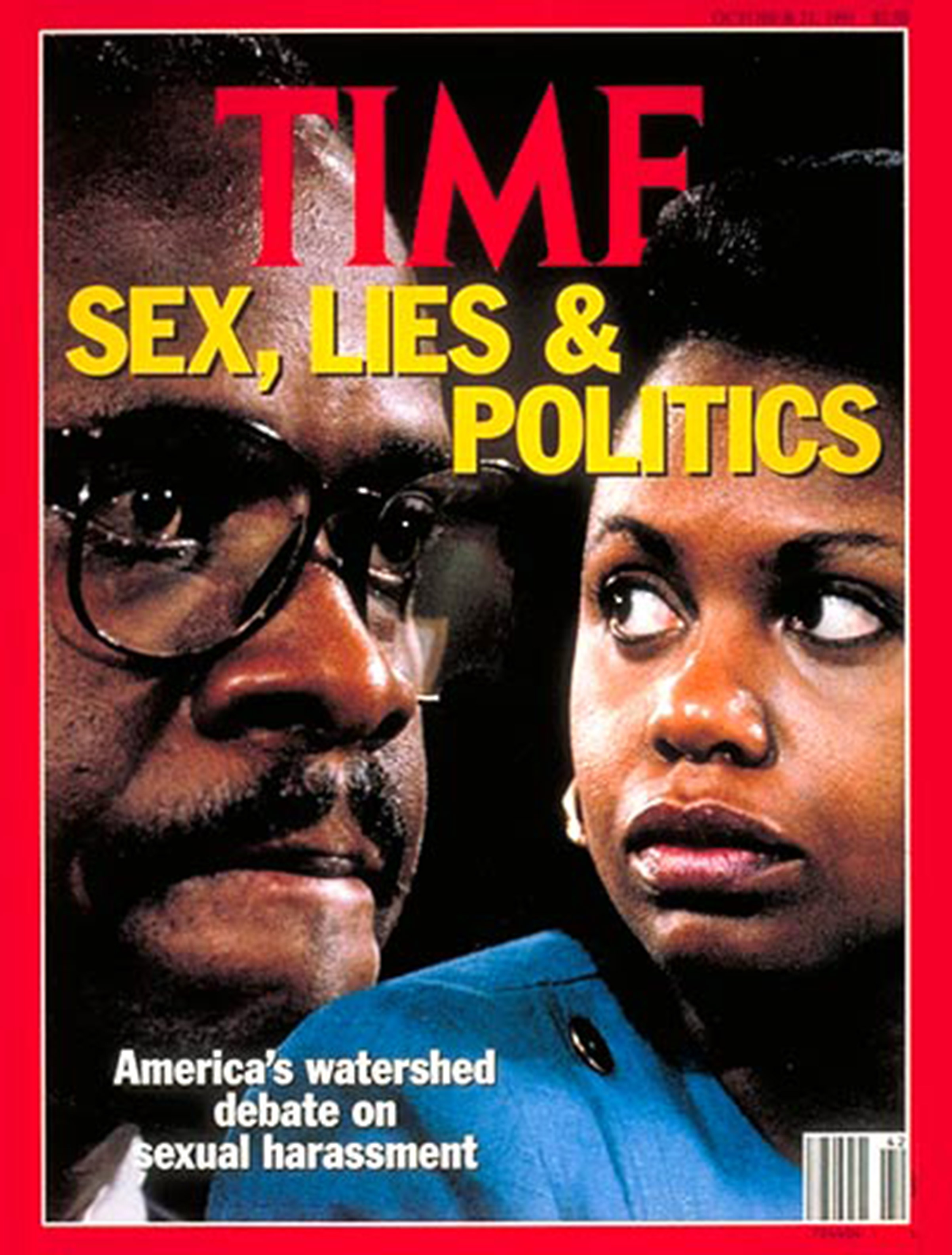 Supreme Court nominee Clarence Thomas and law professor Anita Hill on the Oct. 21, 1991, cover of TIME.