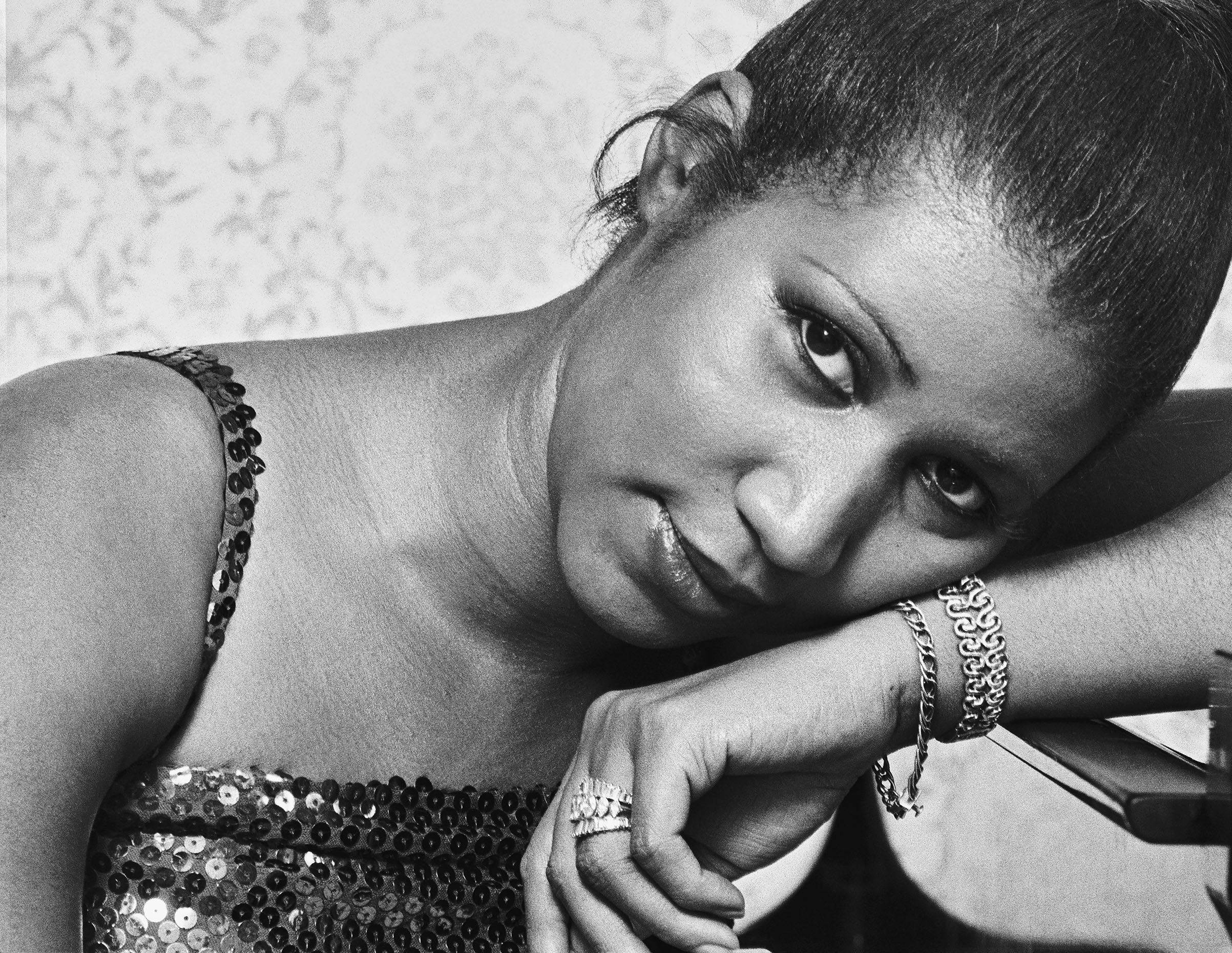 Singer Aretha Franklin, photographed at her Los Angeles home in 1977.