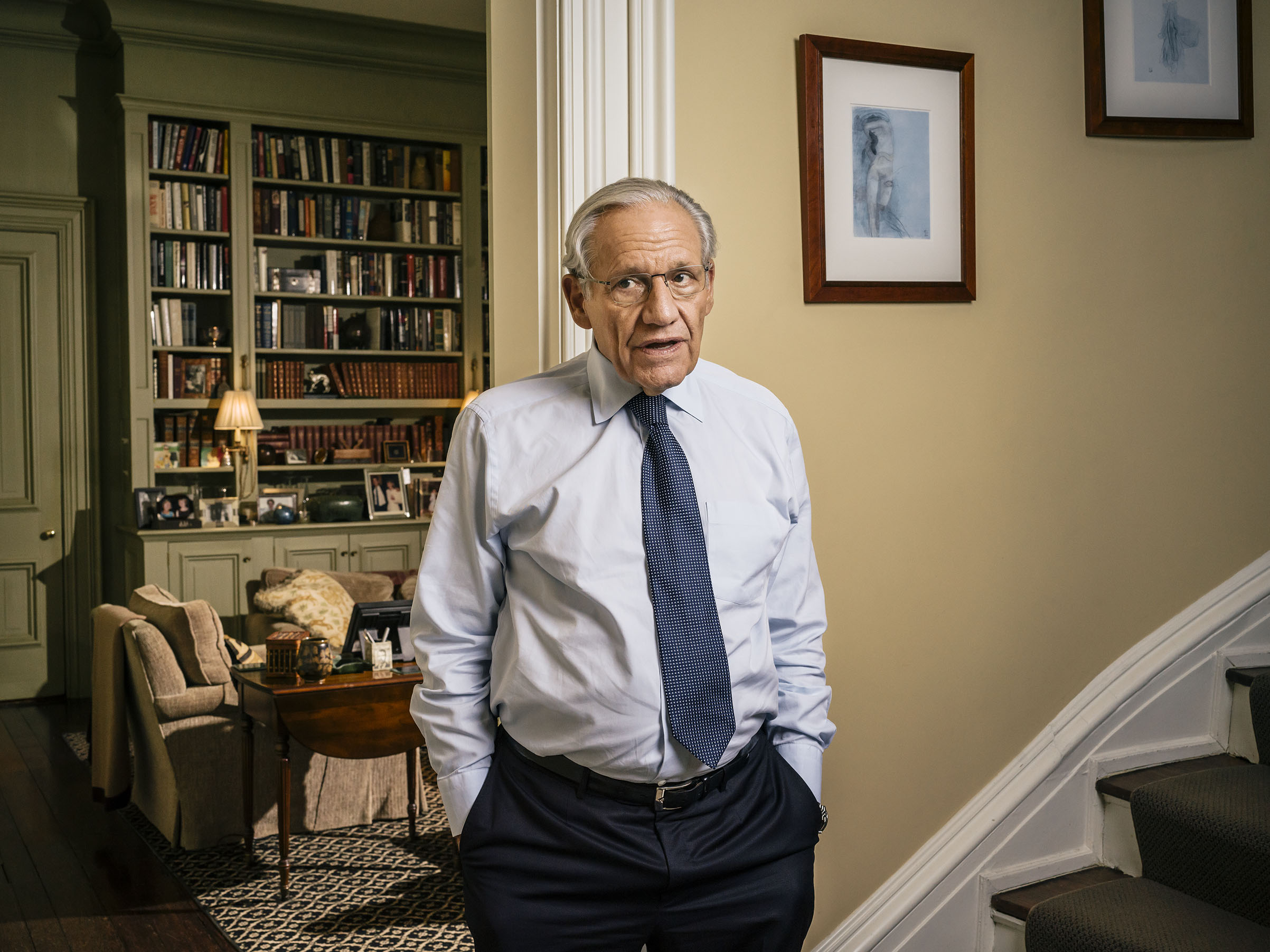 Journalist and author Bob Woodward at his home in Washington, D.C. on Sept. 23, 2018.