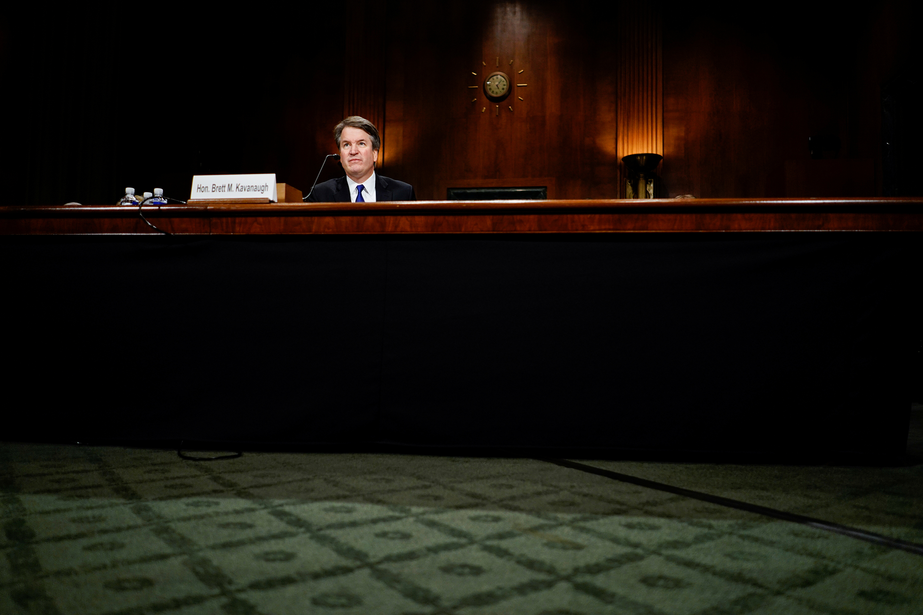 Judge Brett M. Kavanaugh at the Senate Judiciary Committee hearing on Sept. 27.