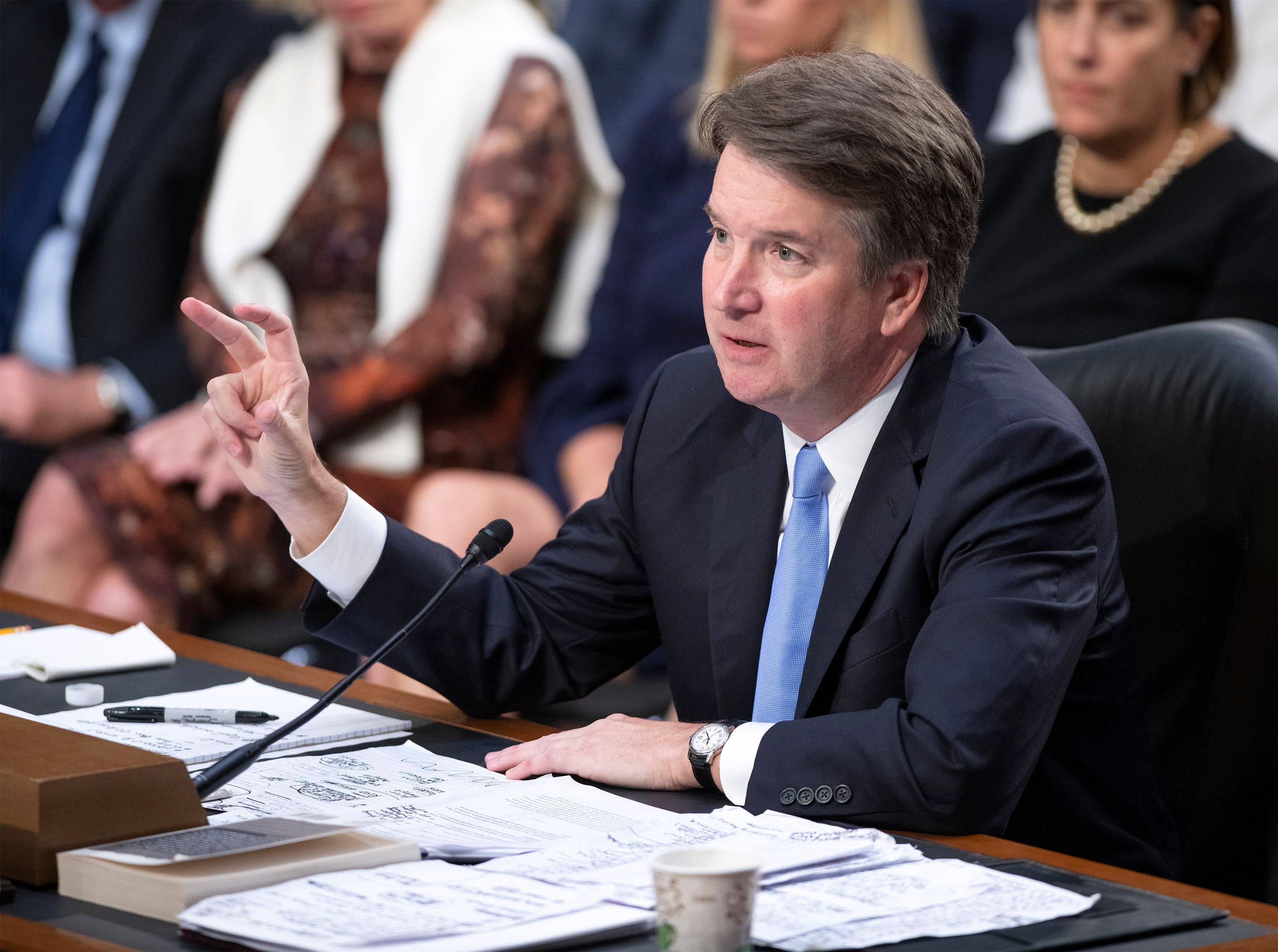 Judge Brett Kavanaugh testifies before the United States Senate Judiciary Committee on his nomination as Associate Justice of the US Supreme Court in Washington, D.C., on Sept. 6, 2018.