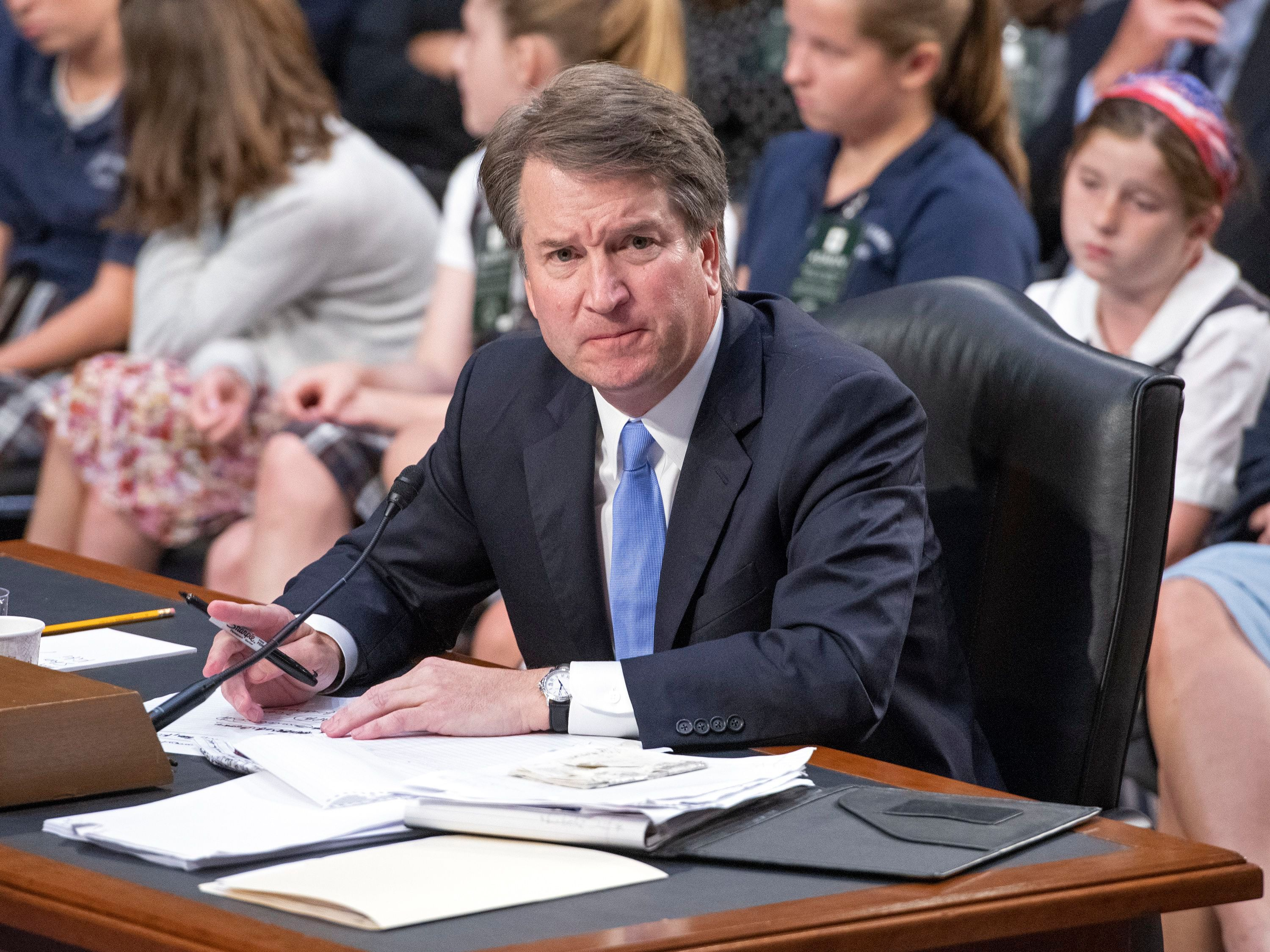Judge Brett Kavanaugh testifies before the United States Senate Judiciary Committee on his nomination as Associate Justice of the US Supreme Court on Sept. 6, 2018.