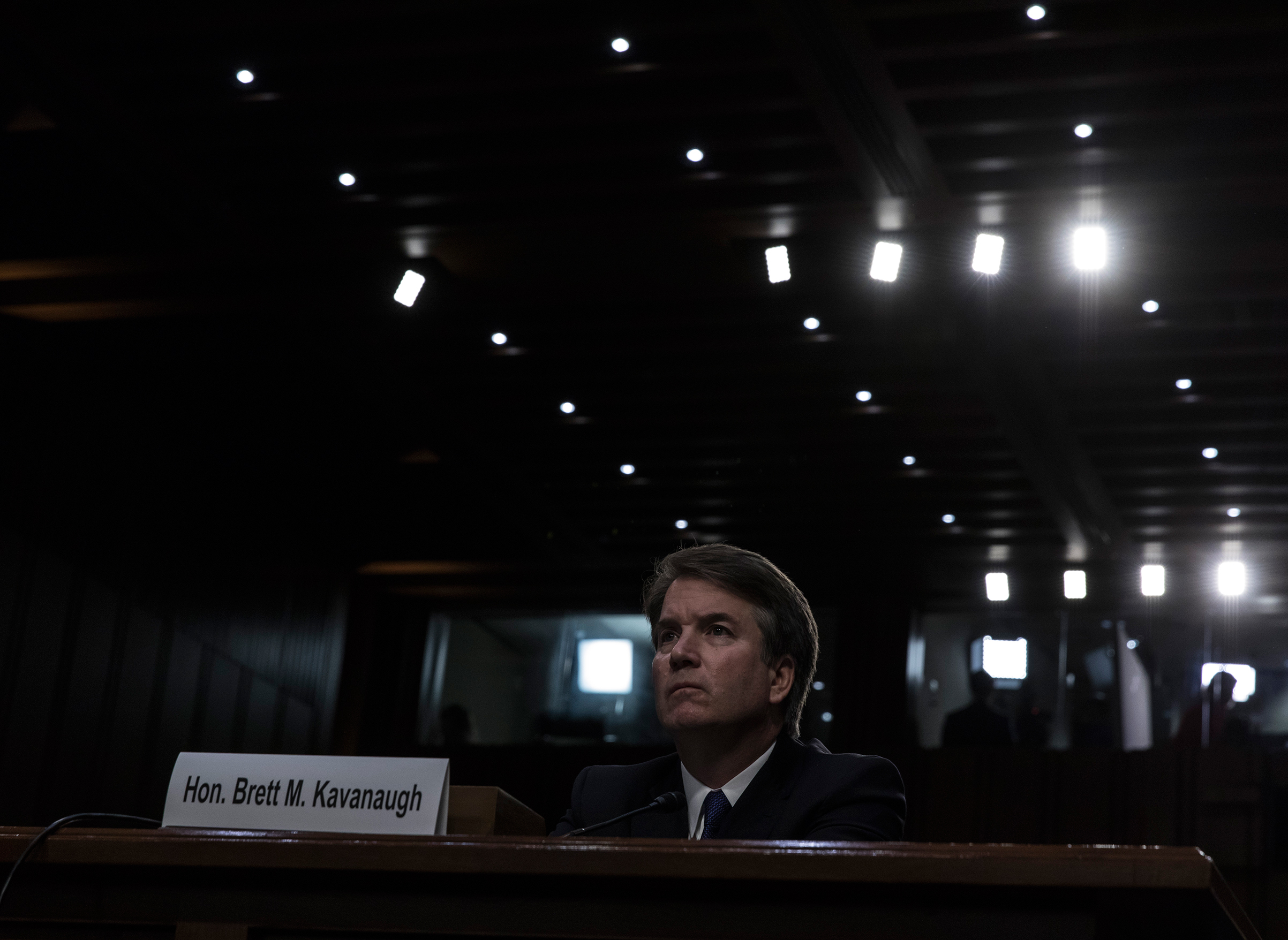 Supreme Court nominee Judge Brett Kavanaugh appears before the Senate Judiciary Committee during his Supreme Court confirmation hearing on Capitol Hill, September 4, 2018 in Washington, DC.