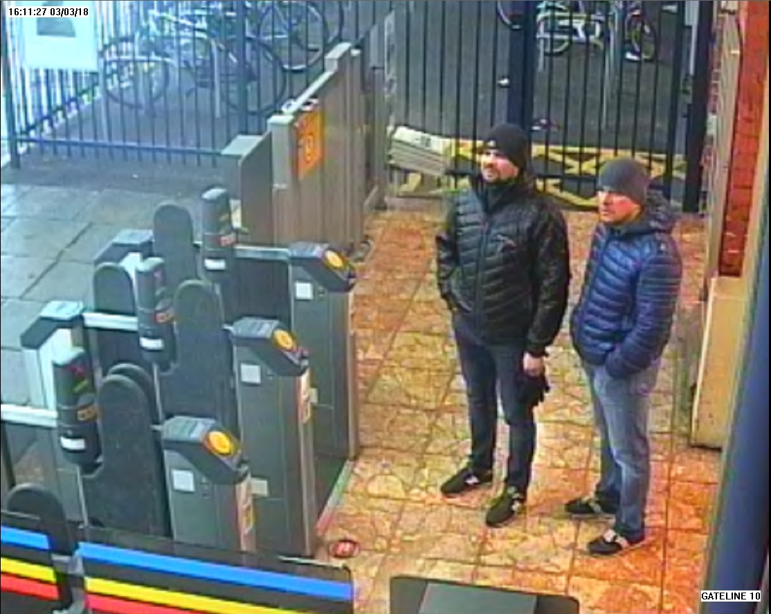 Petrov and Boshirov at Salisbury station the day before the Skripals were poisoned